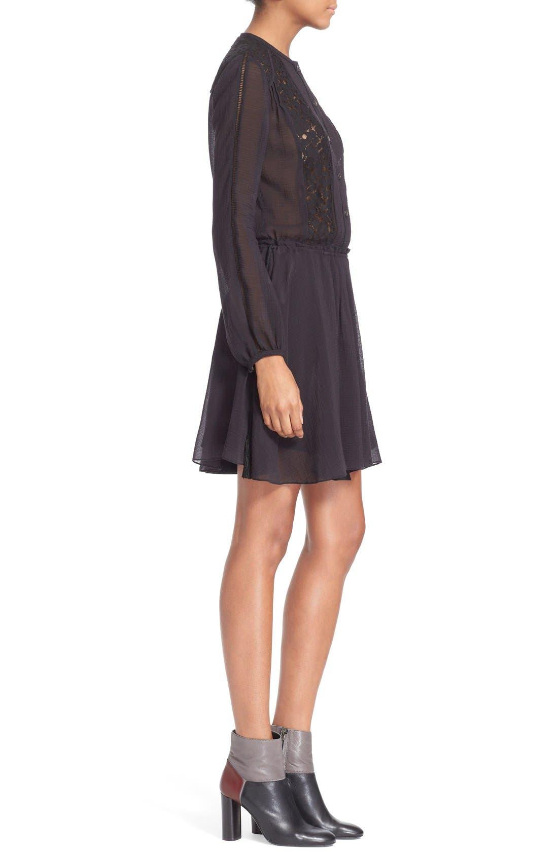 Alternate Image 3  - Derek Lam 10 Crosby Lace Inset Dress
