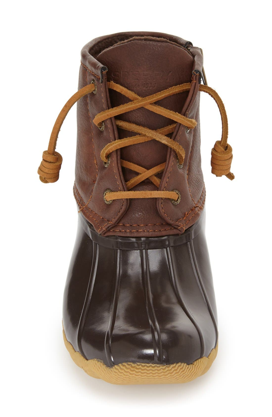 Saltwater Duck Boot,                             Alternate thumbnail 3, color,                             Brown