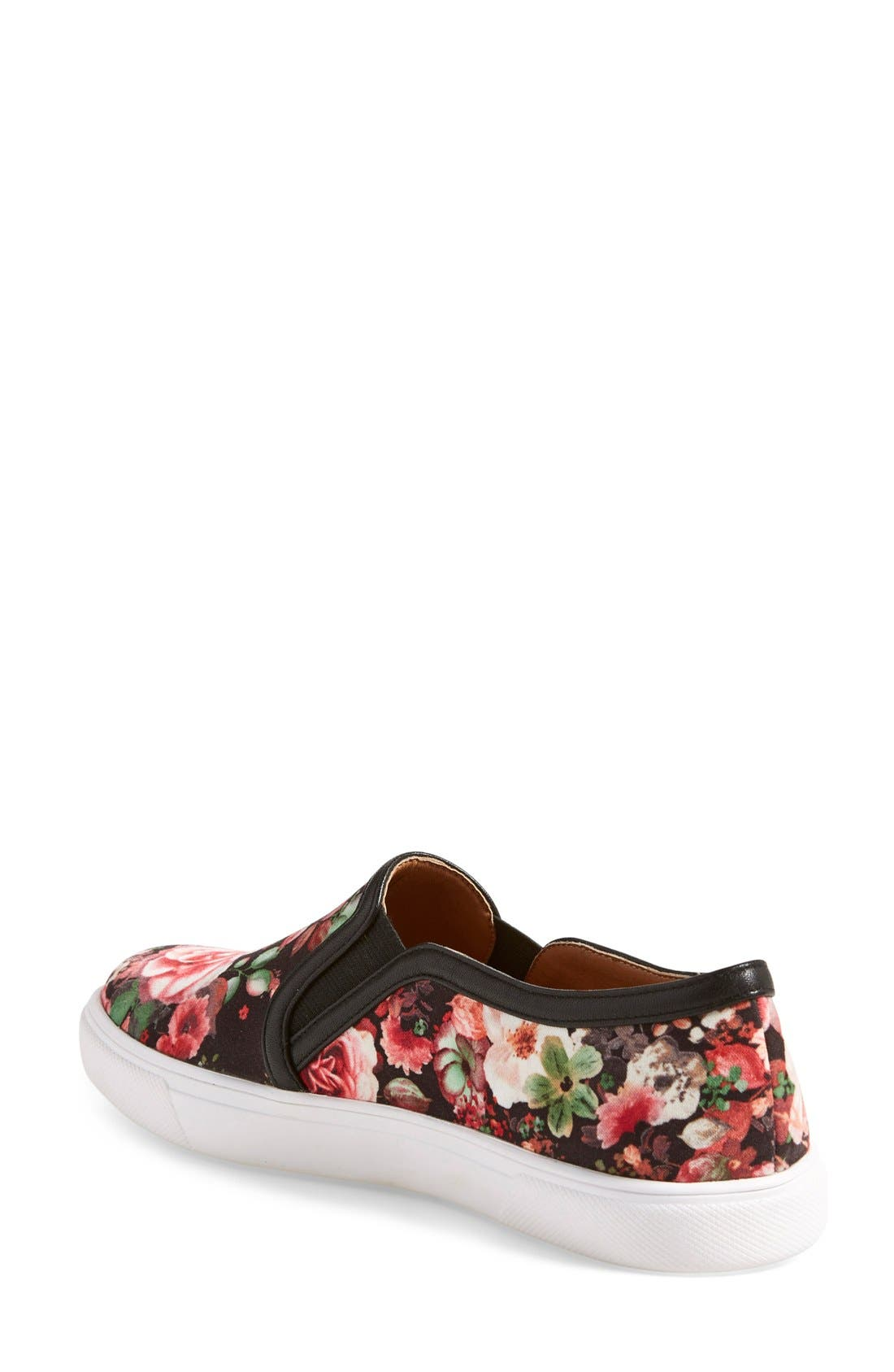 'Turner' Slip-On Sneaker,                             Alternate thumbnail 2, color,                             Rose Floral