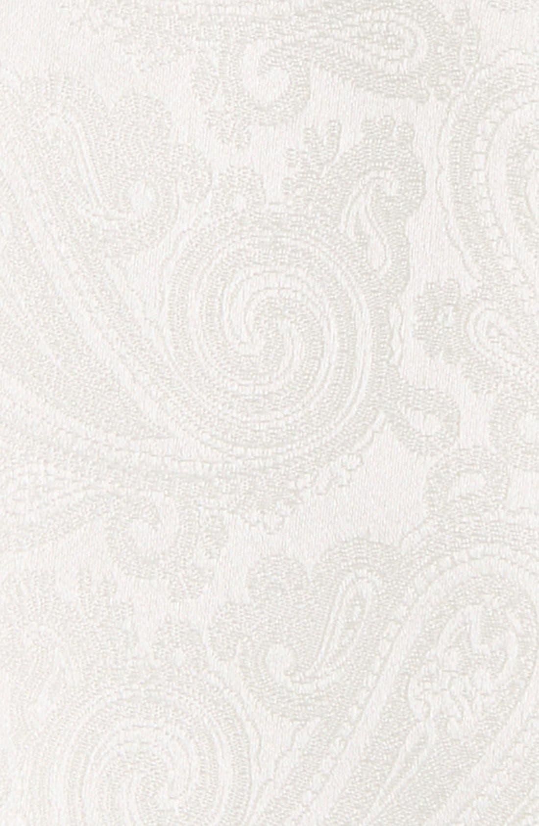 Paisley Silk Bow Tie,                             Alternate thumbnail 3, color,                             White