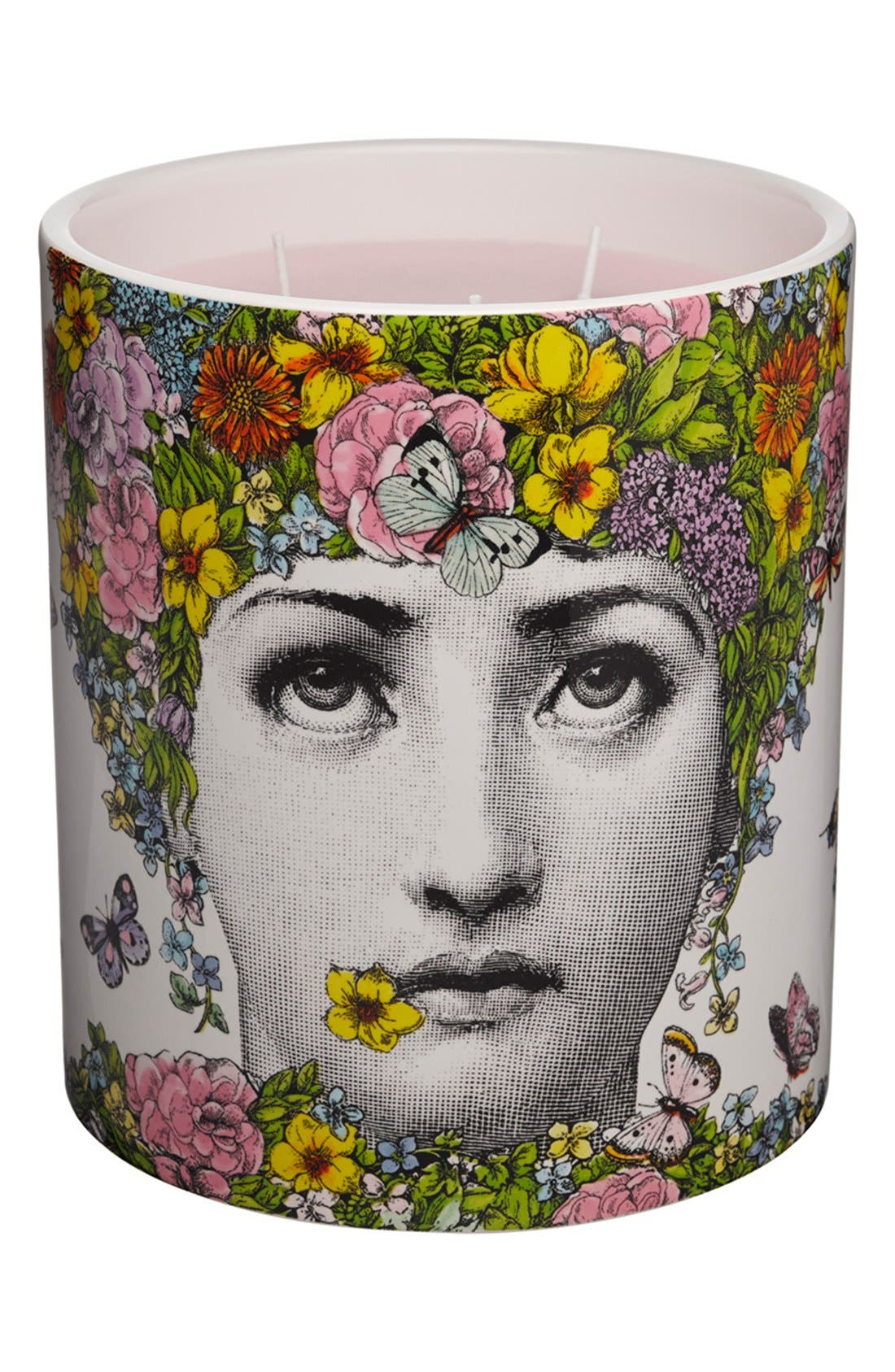 Alternate Image 1 Selected - Fornasetti 'Flora' Large Candle