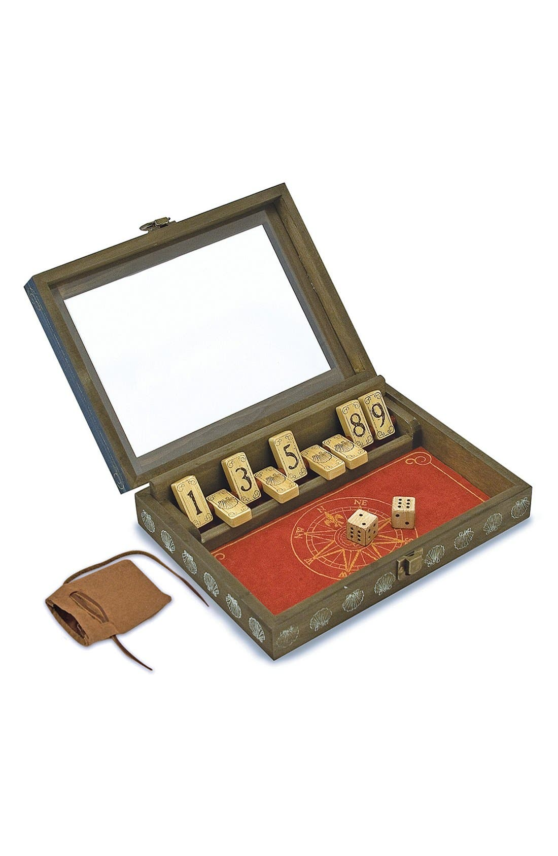 'Shut-the-Box' Game,                         Main,                         color, Brown