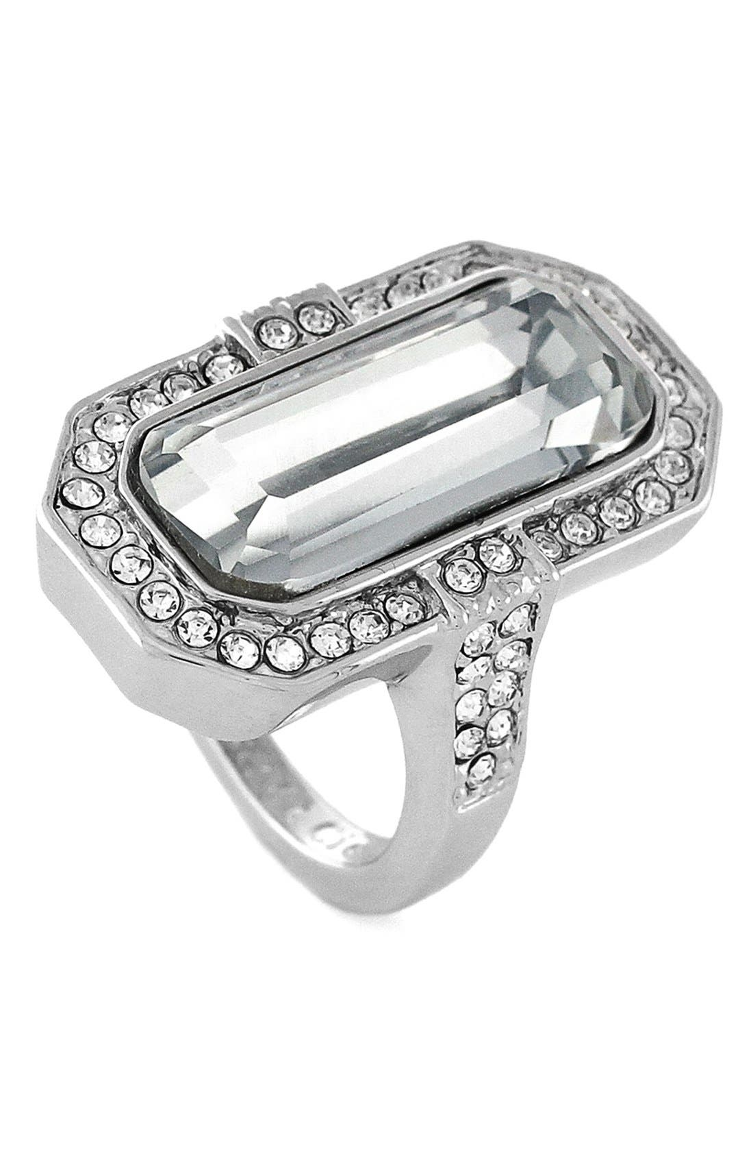Alternate Image 1 Selected - Louise et Cie Crystal Cocktail Ring