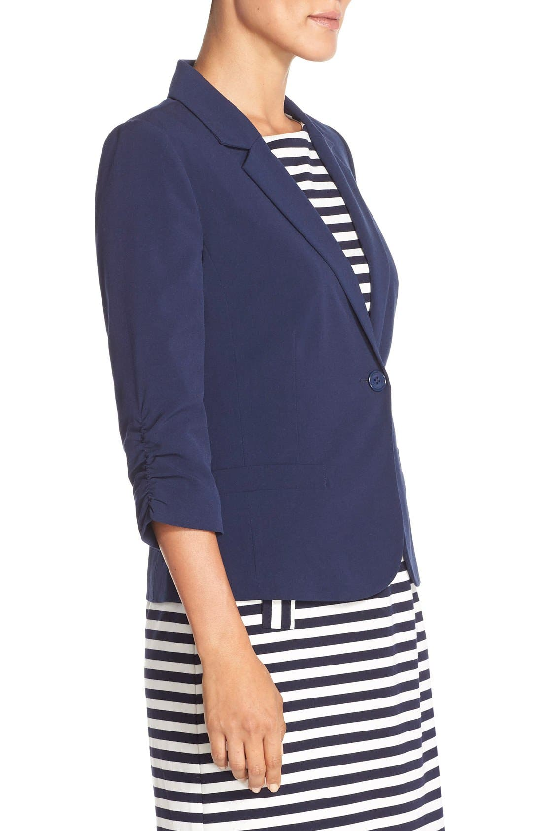 Alternate Image 3  - Eliza J Ruched Sleeve Blazer
