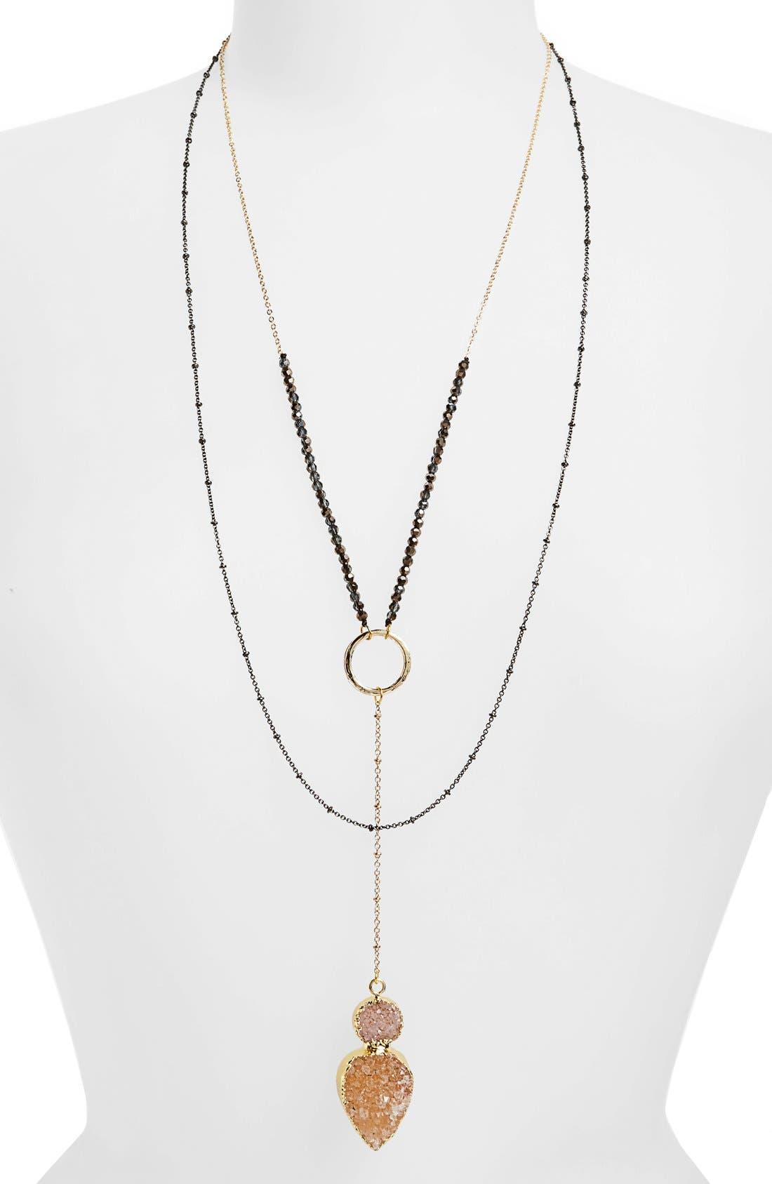 Main Image - Panacea Layered Pendant Necklace