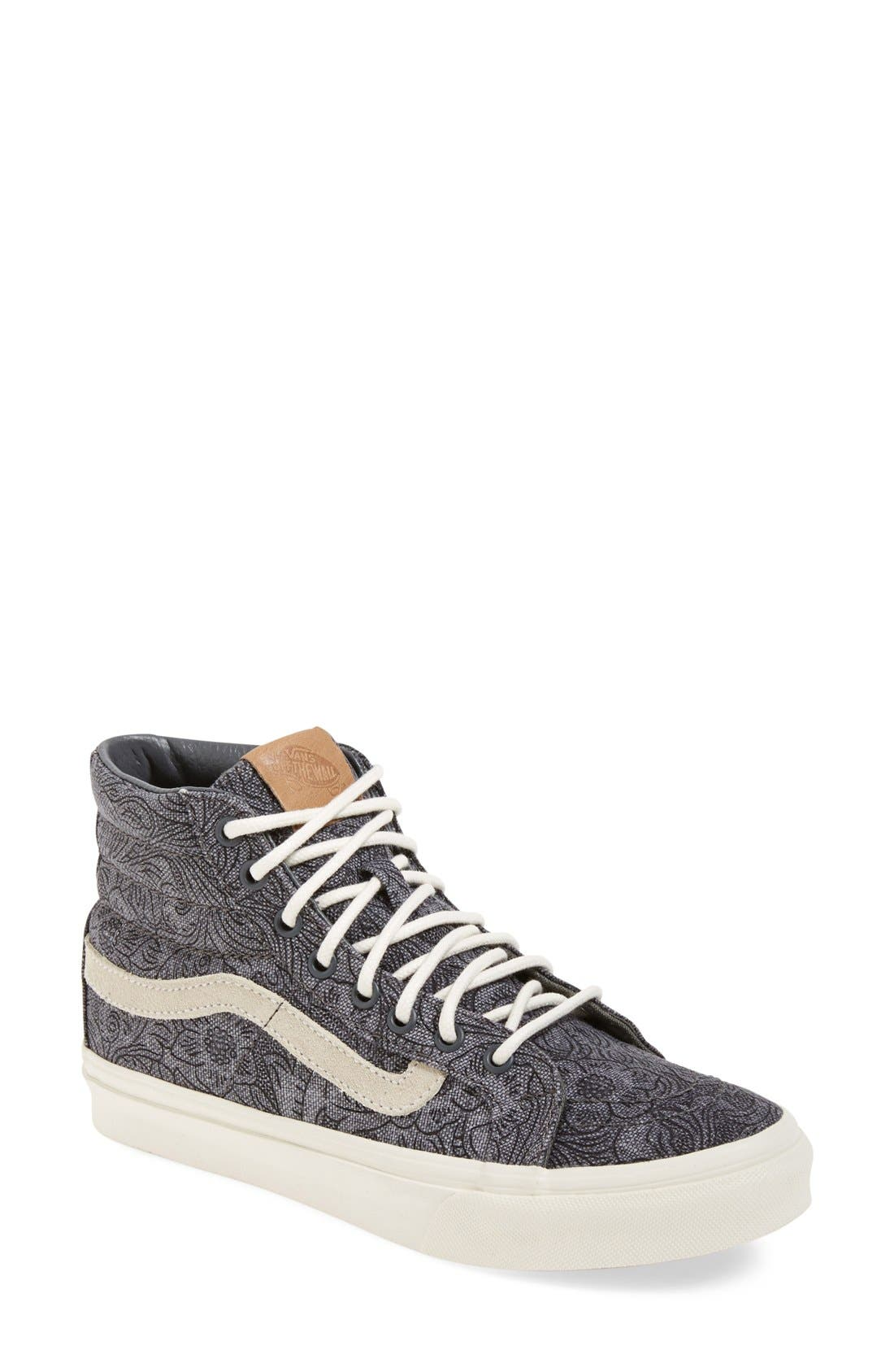 Alternate Image 1 Selected - Vans 'Sk8-Hi Slim' Sneaker (Women)