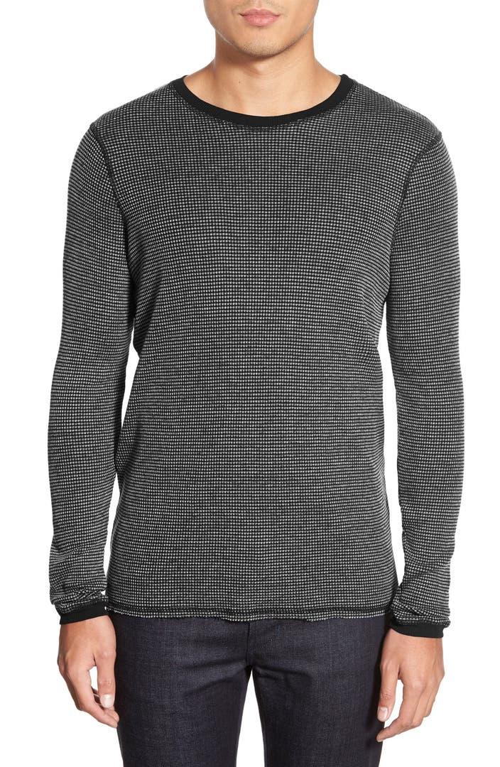 Michael stars long sleeve waffle knit thermal t shirt for Michael stars tee shirts