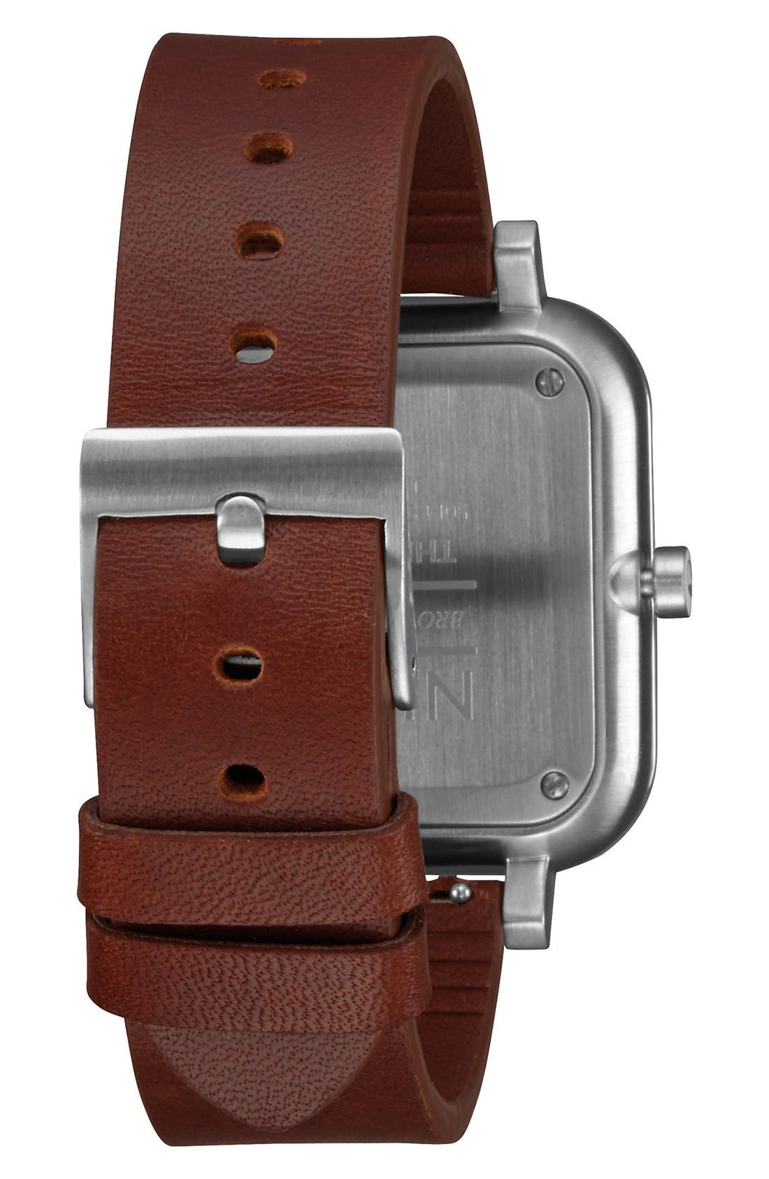 Alternate Image 2  - Nixon 'Ragnar' Leather Strap Watch, 40mm
