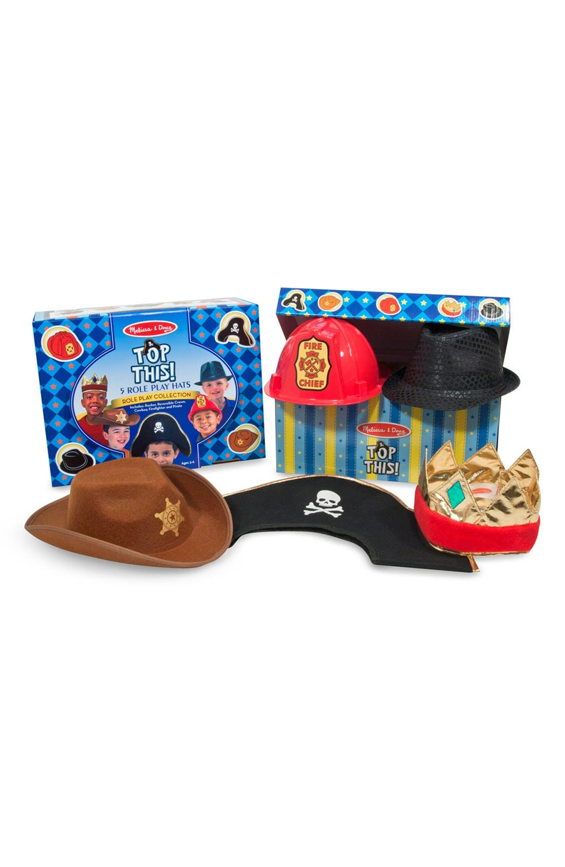 Alternate Image 1 Selected - Melissa & Doug 'Role Play Collection - Top This!' Hats