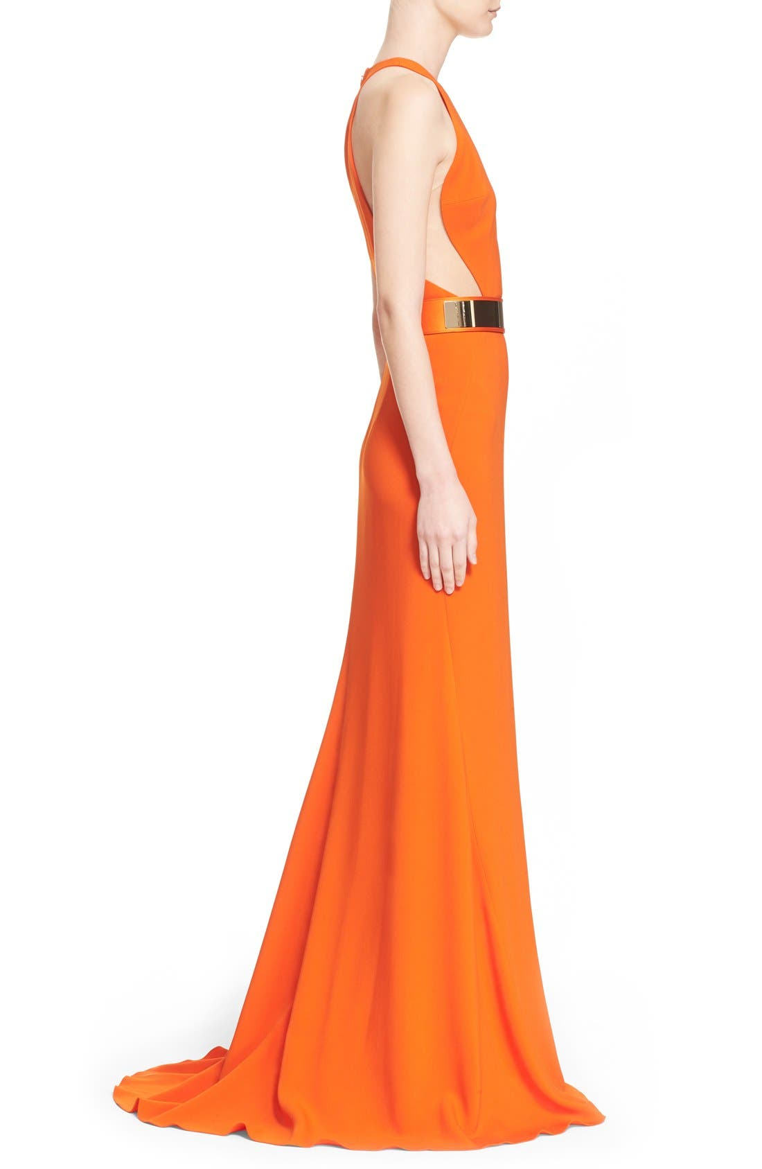 Alternate Image 5  - Stella McCartney Belted Stretch Cady Gown
