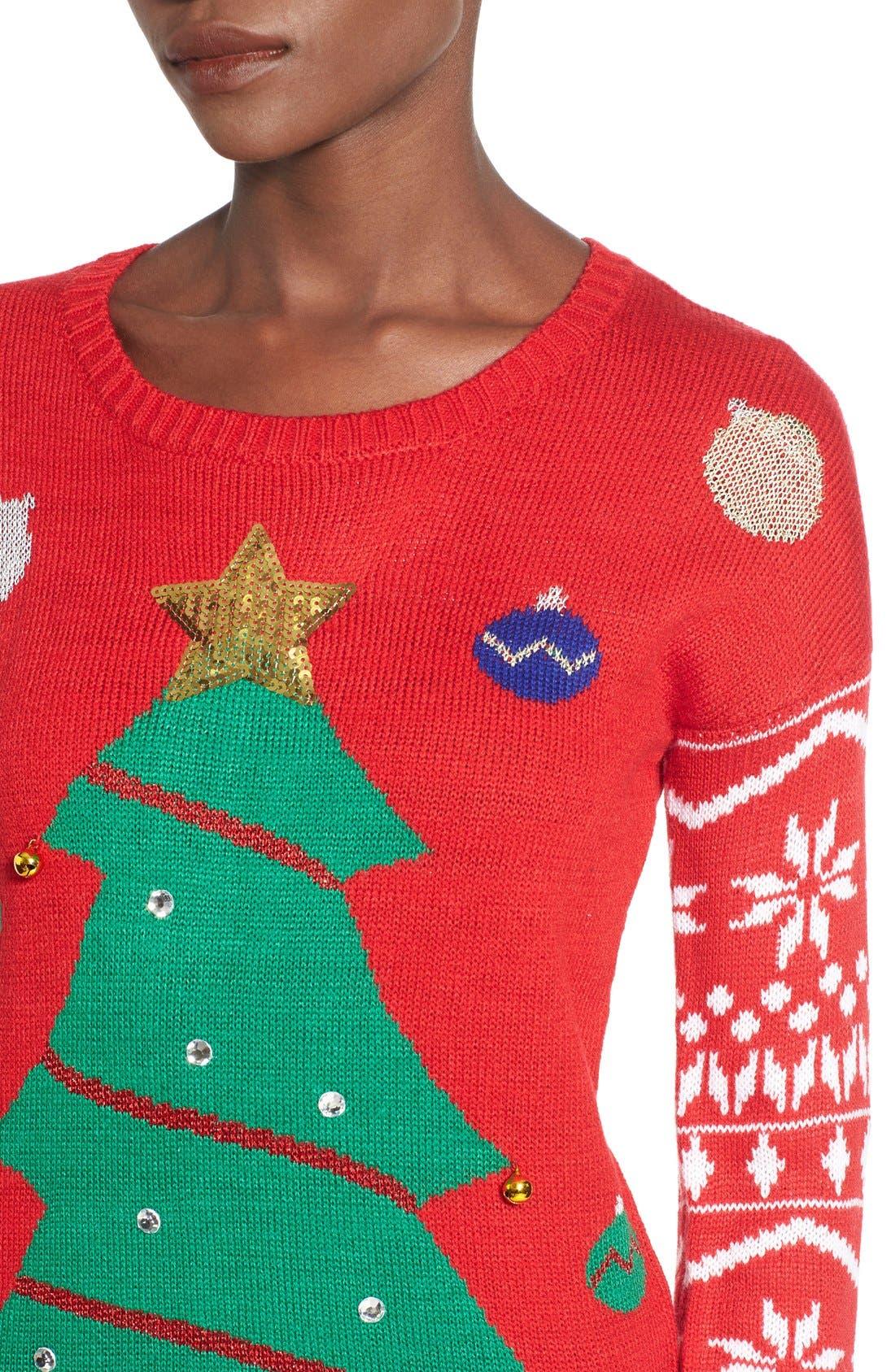 Alternate Image 4  - Derek Heart Tree Ornament Christmas Sweater