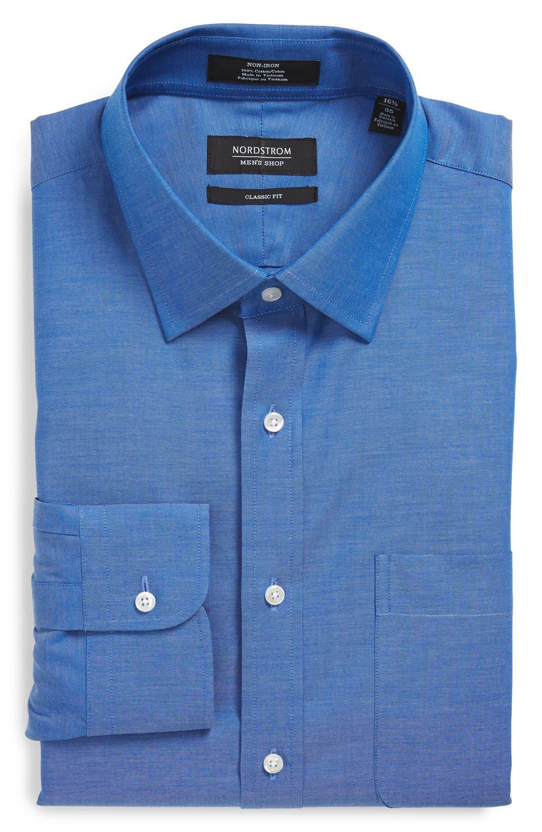NORDSTROM MENS SHOP Classic Fit Non-Iron Solid Dress Shirt