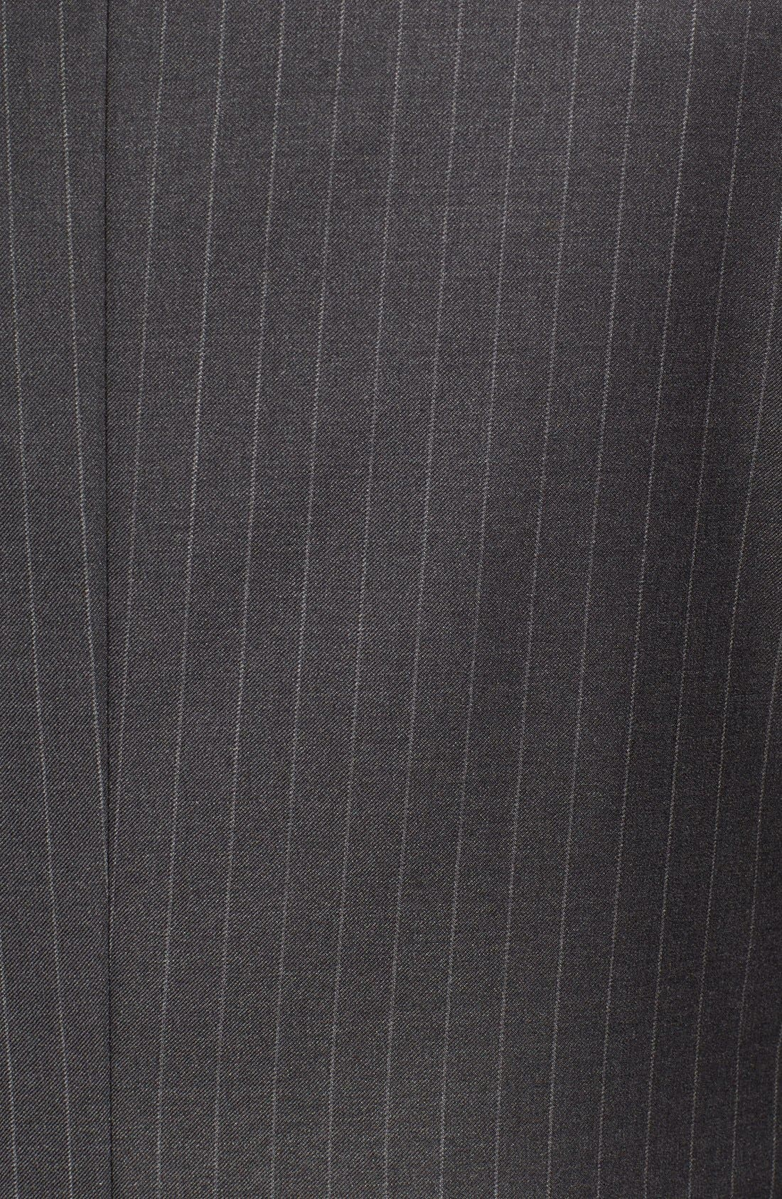 Alternate Image 7  - Hickey Freeman 'Beacon - B Series' Classic Fit Stripe Wool Suit