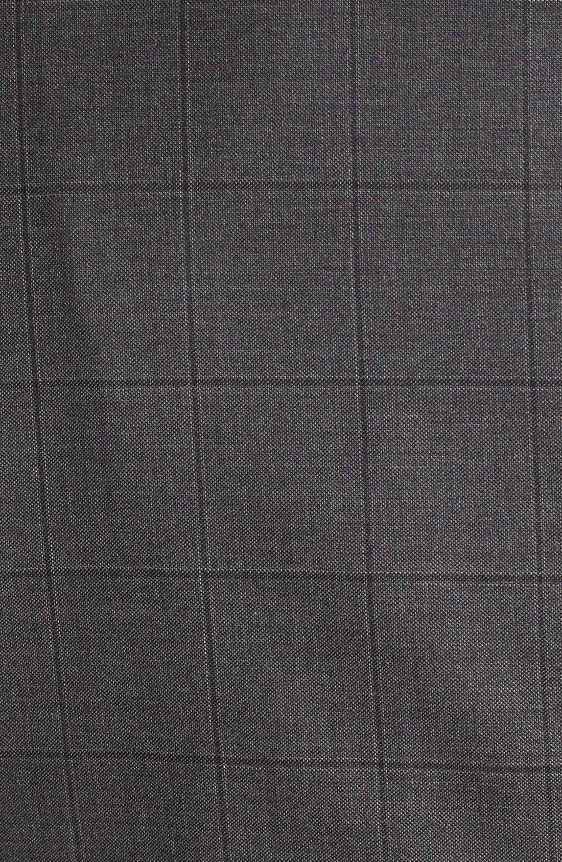 Alternate Image 7  - Hickey Freeman Classic B Fit Windowpane Wool Suit