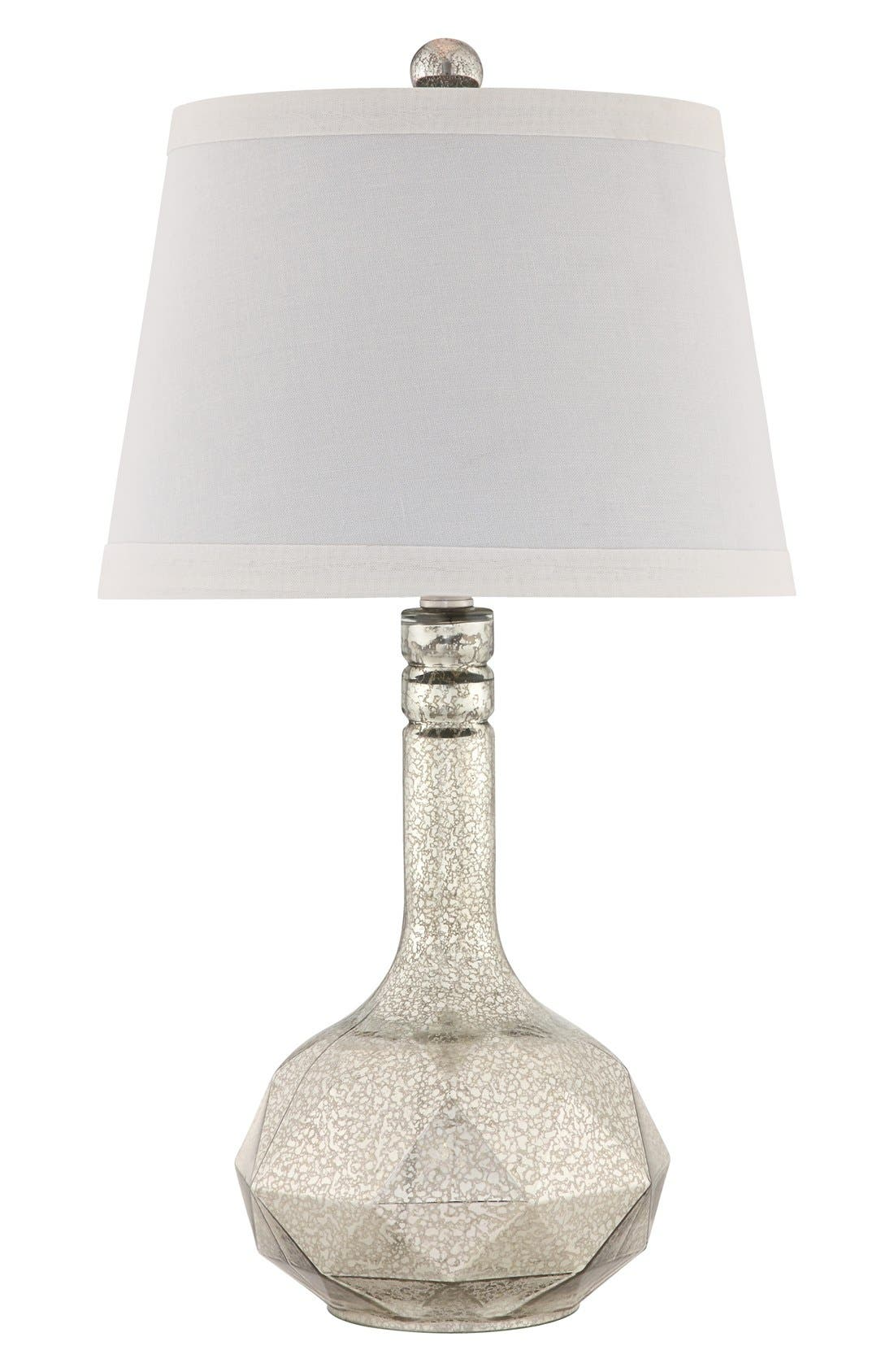 Mercury Glass Table Lamp,                             Main thumbnail 1, color,                             Silver/ Brushed Nickel