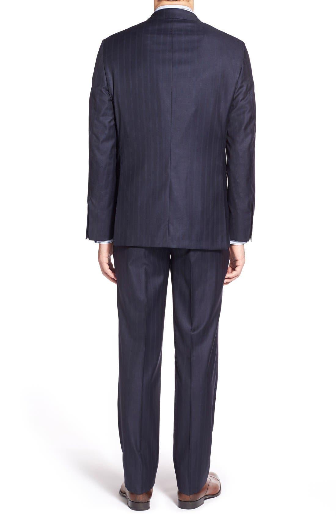 Alternate Image 2  - Hickey Freeman Classic B Fit Stripe Wool Suit