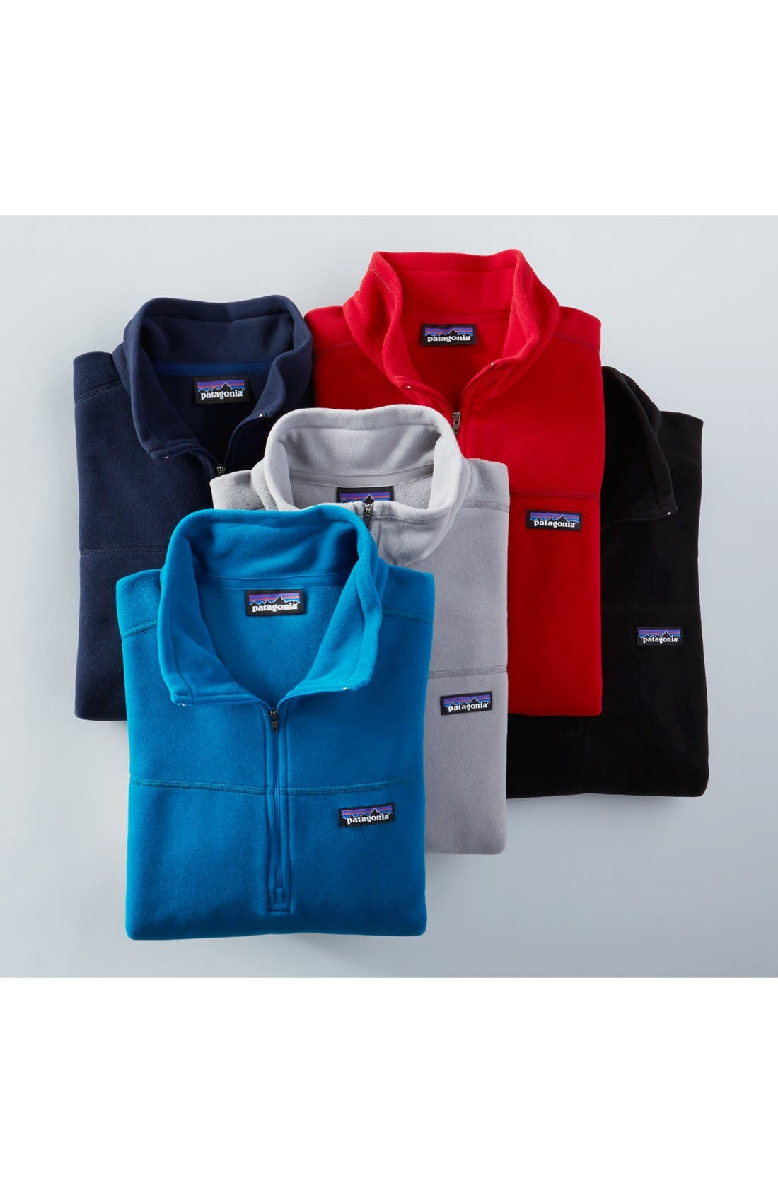 'Micro D' Quarter Zip Front Pullover,                             Alternate thumbnail 4, color,