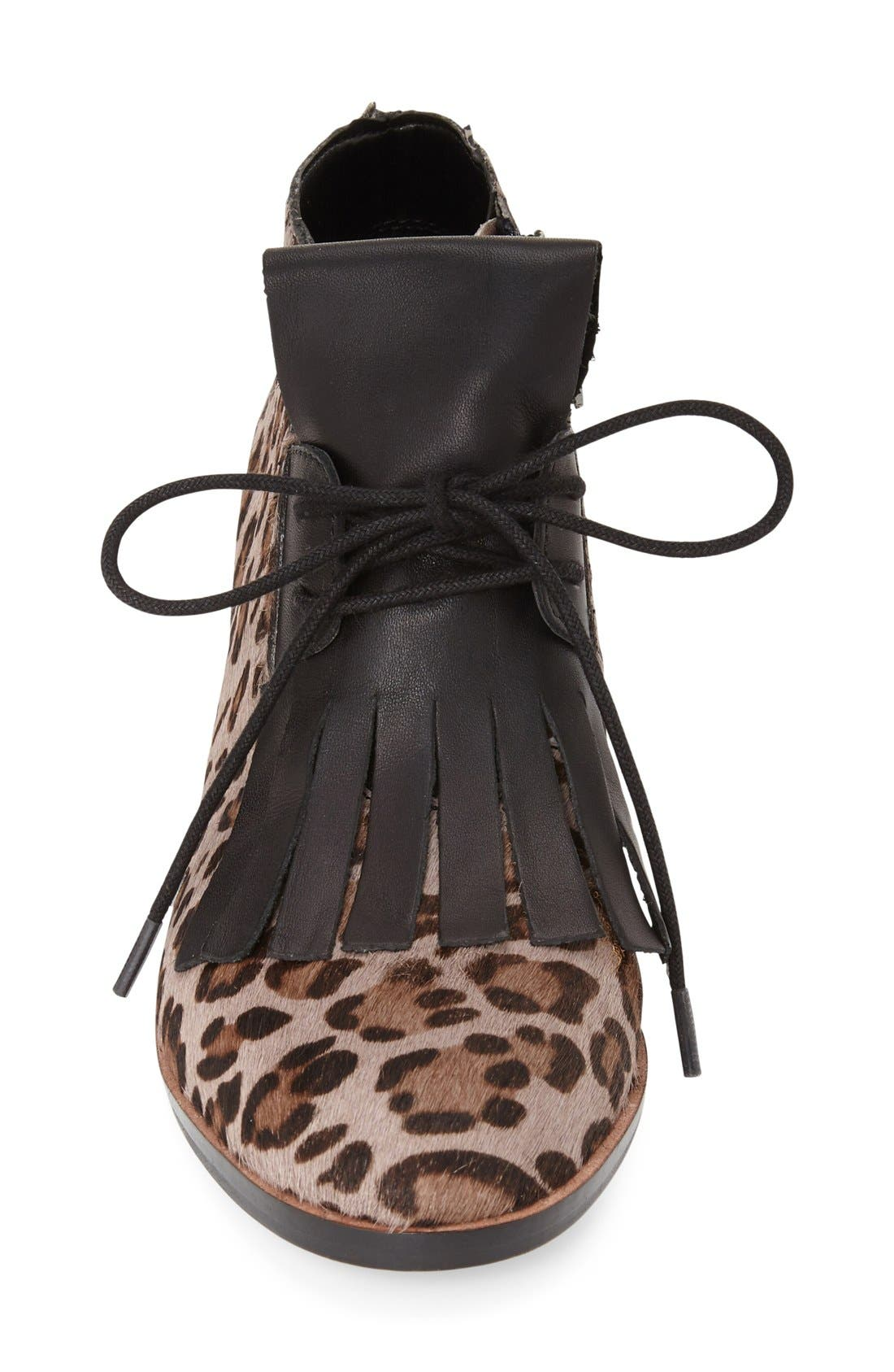 Alternate Image 3  - French Connection 'Clair' Genuine Calf Hair Lace-Up Bootie (Women)
