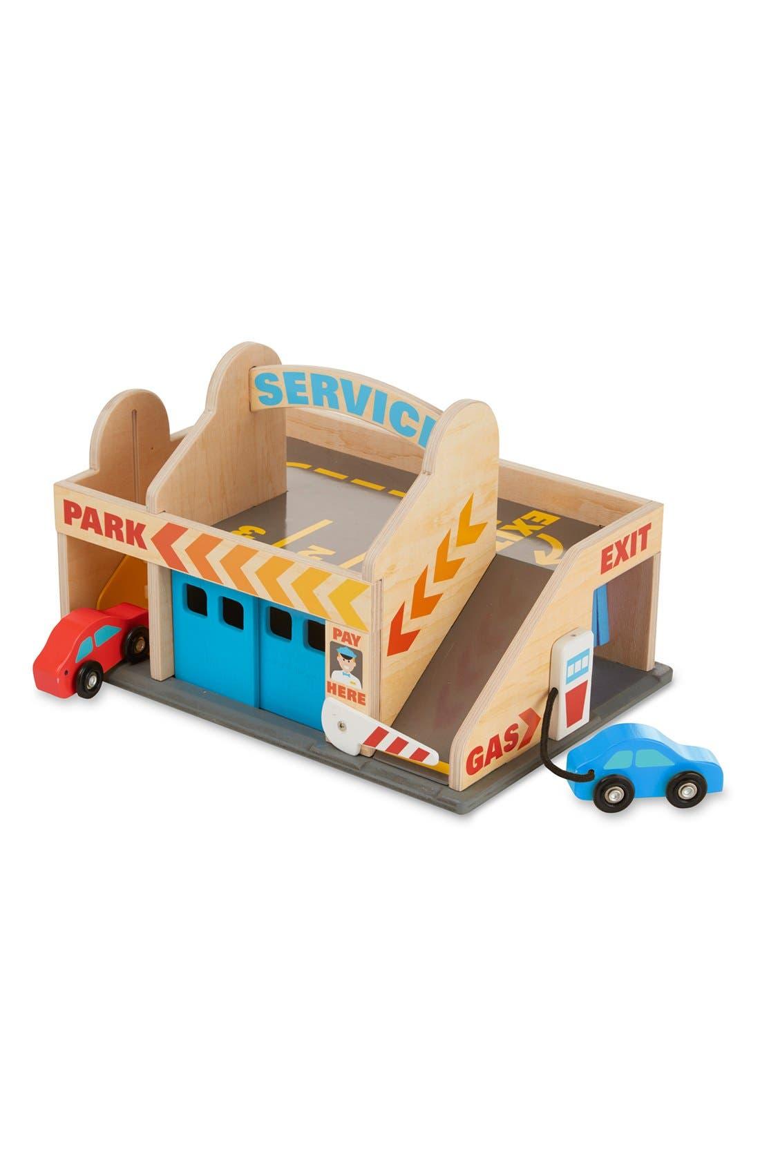 Service Station Parking Garage,                         Main,                         color, Multi