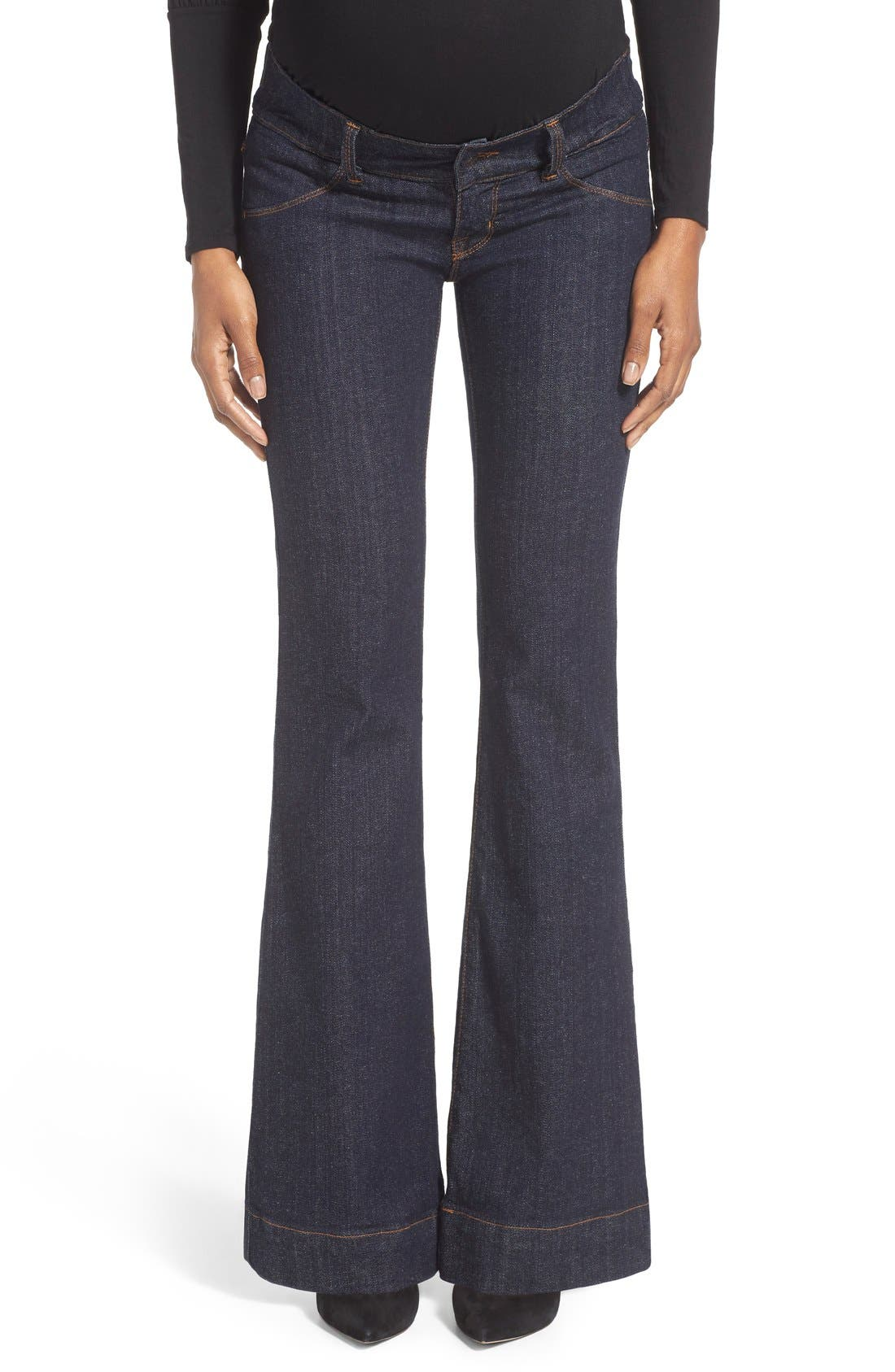Bootcut Stretch Maternity Jeans,                         Main,                         color, Dark Wash