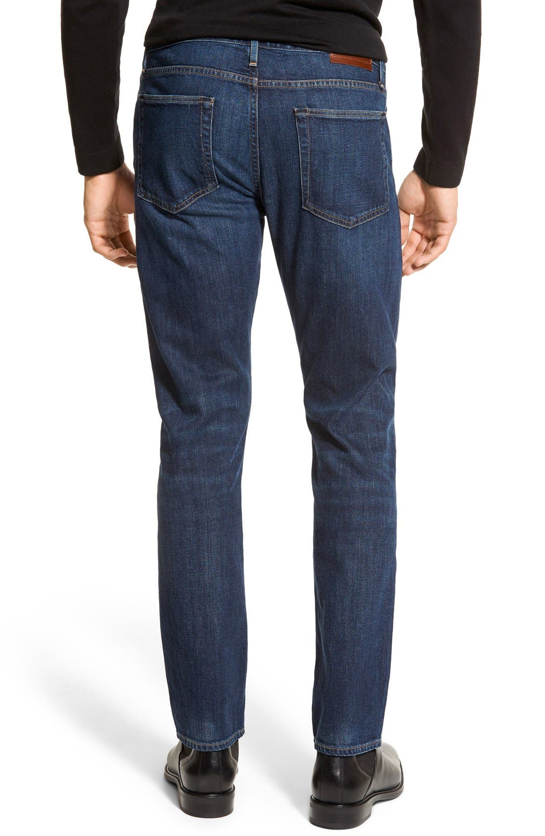 Alternate Image 4  - Burberry Brit Straight Leg Jeans (Dark Indigo)