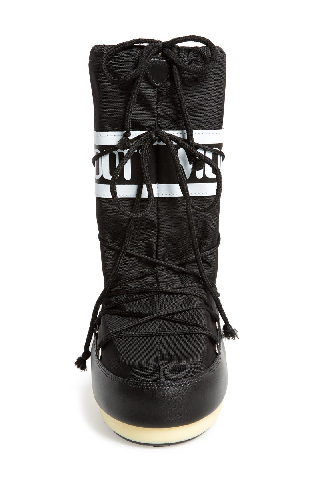 'Original' Moon Boot<sup>®</sup>,                             Alternate thumbnail 3, color,                             Black