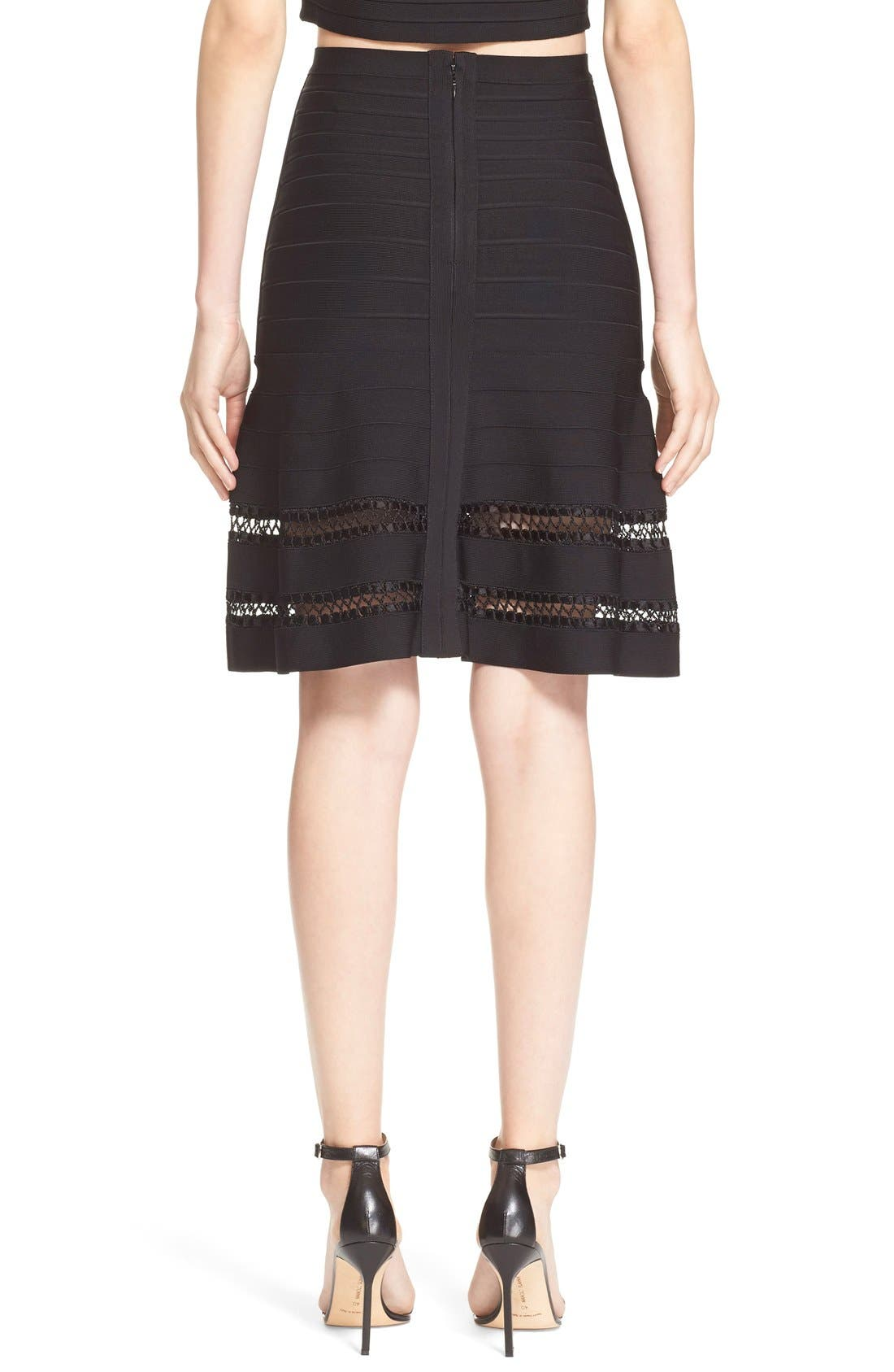 Alternate Image 5  - Herve Leger 'Amelie' Crochet Cage Stitch Bandage Skirt
