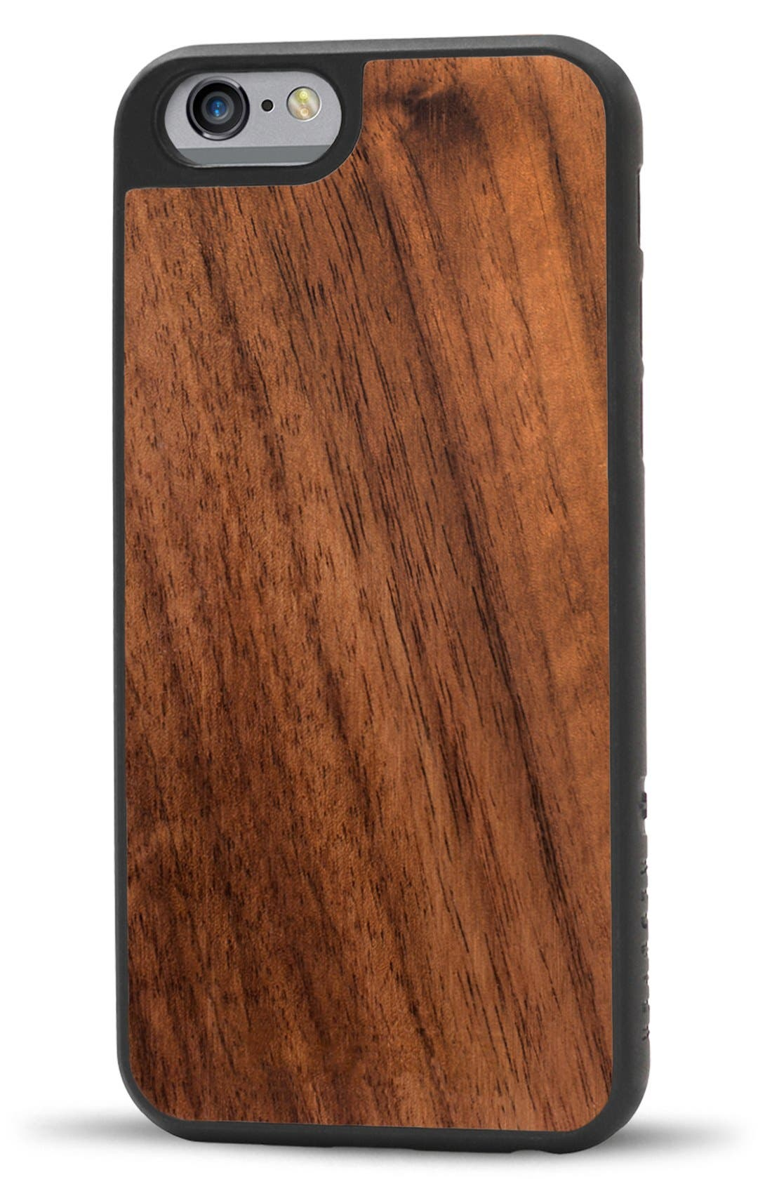 Walnut Wood iPhone 6/6s Case,                         Main,                         color, Brown/ Black