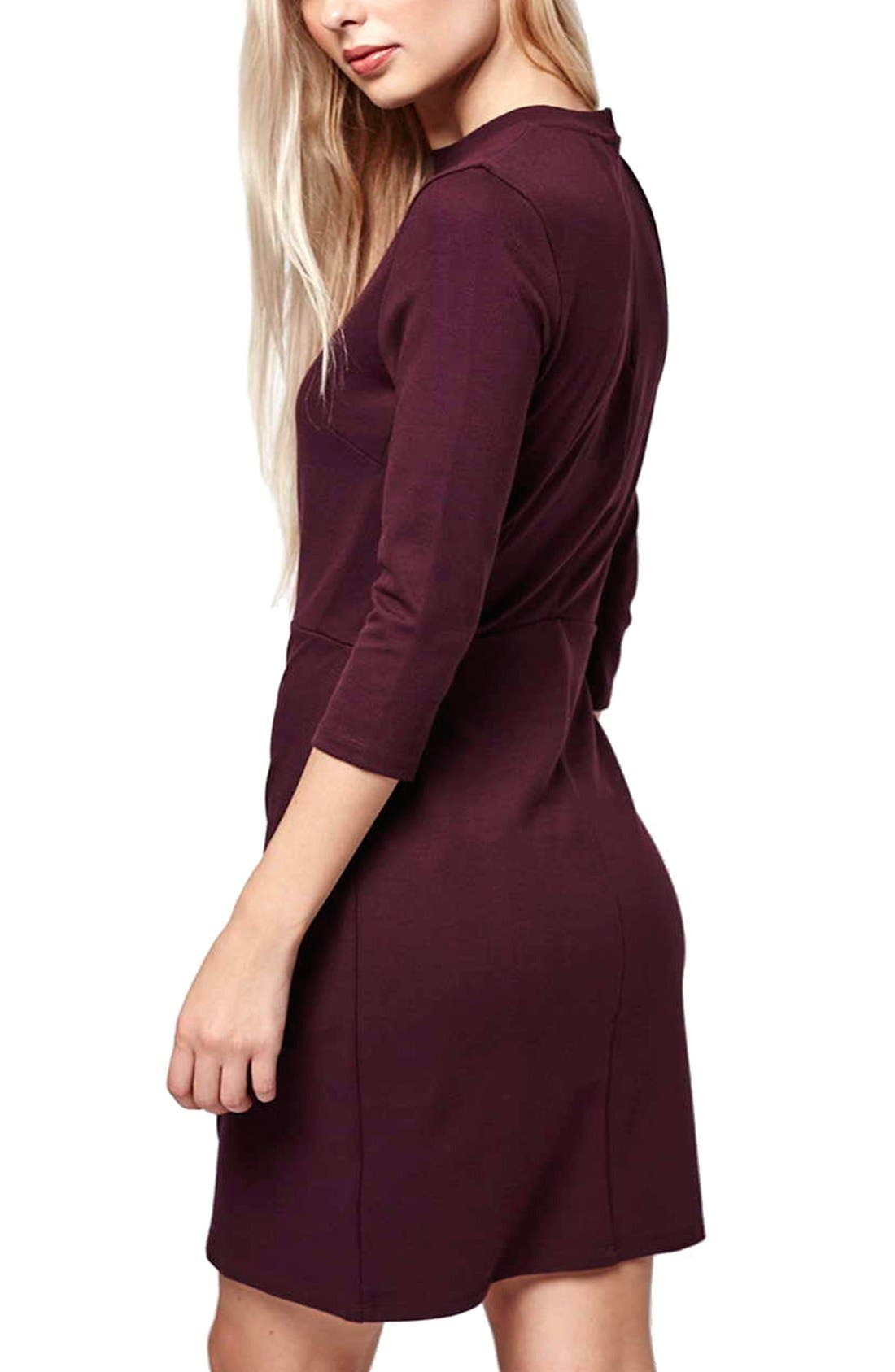 Alternate Image 3  - Topshop Faux Wrap Body-Con Dress