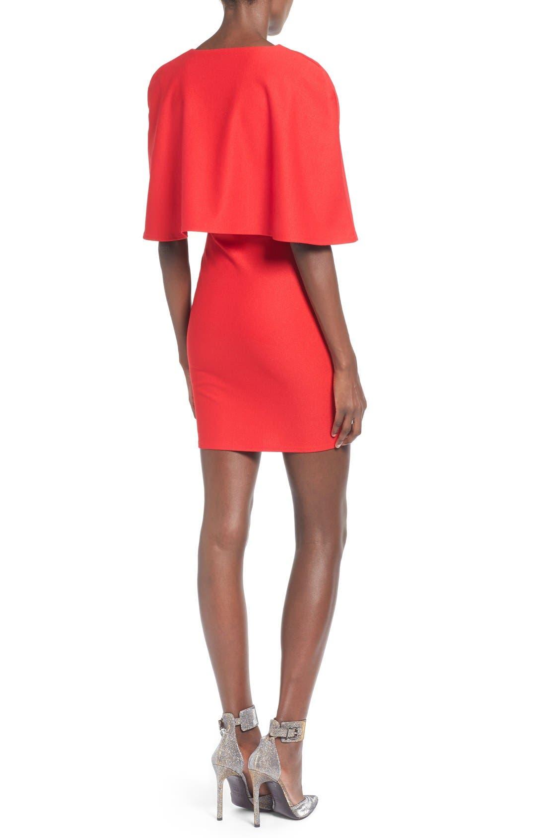 Alternate Image 2  - Missguided Cape Body-Con Dress