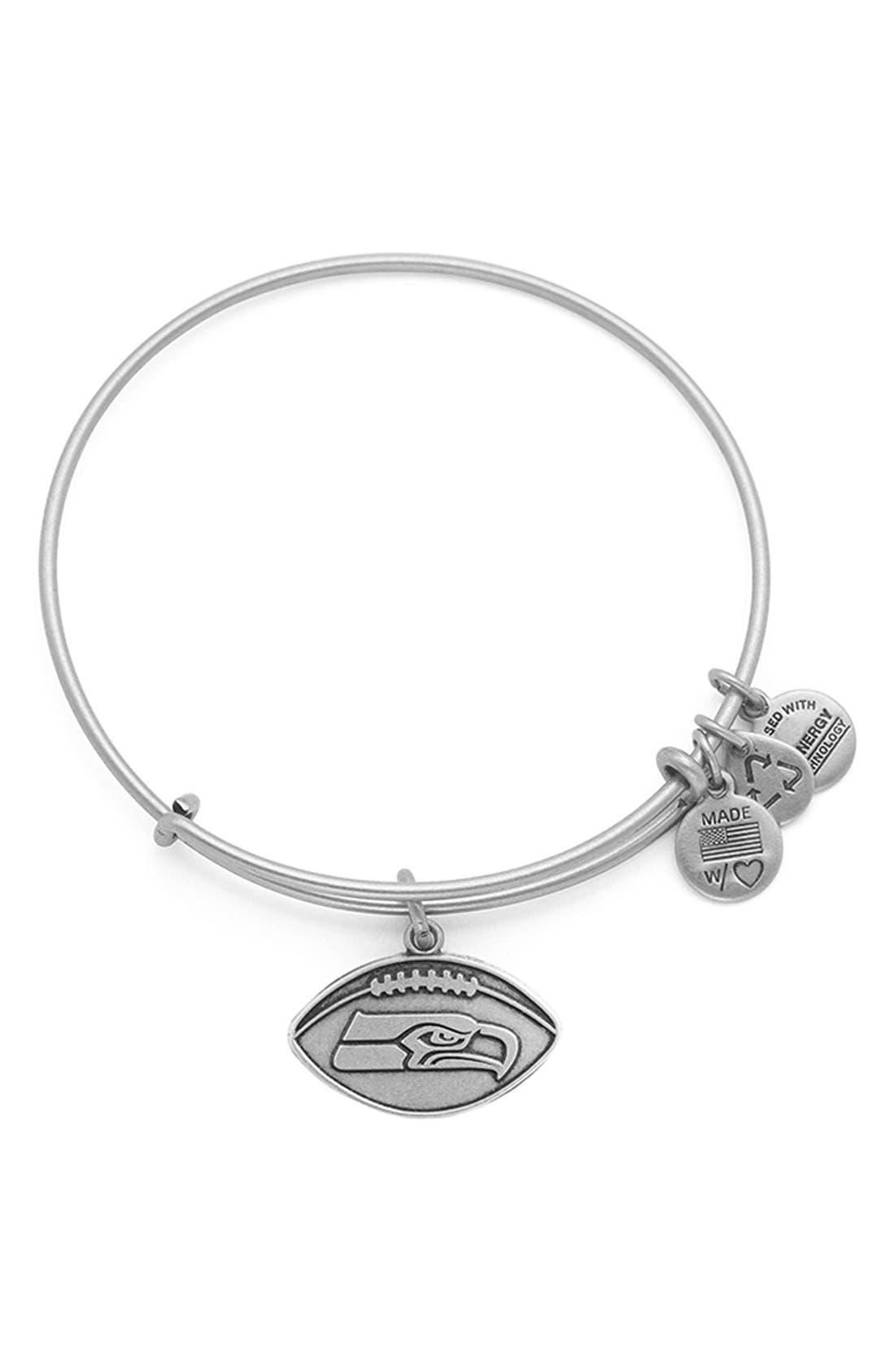 Alternate Image 1 Selected - Alex and Ani 'NFL - Seattle Seahawks' Adjustable Wire Bracelet