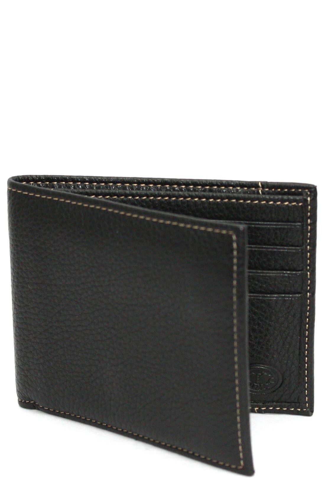 Main Image - Torino Belts Leather Billfold Wallet