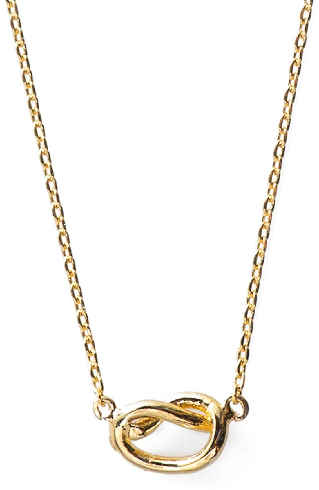 Main Image - Wanderlust + Co. Infinity Pendant Necklace