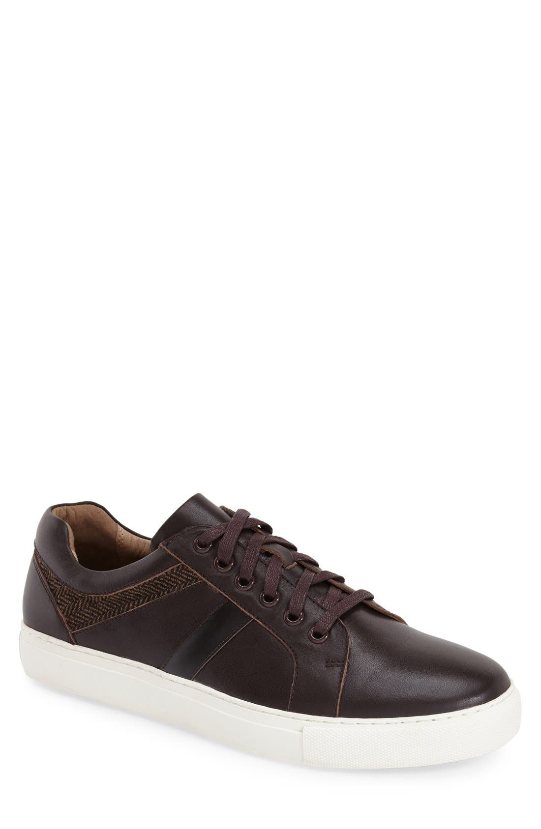 'Mixer' Sneaker,                             Main thumbnail 1, color,                             Brown Leather