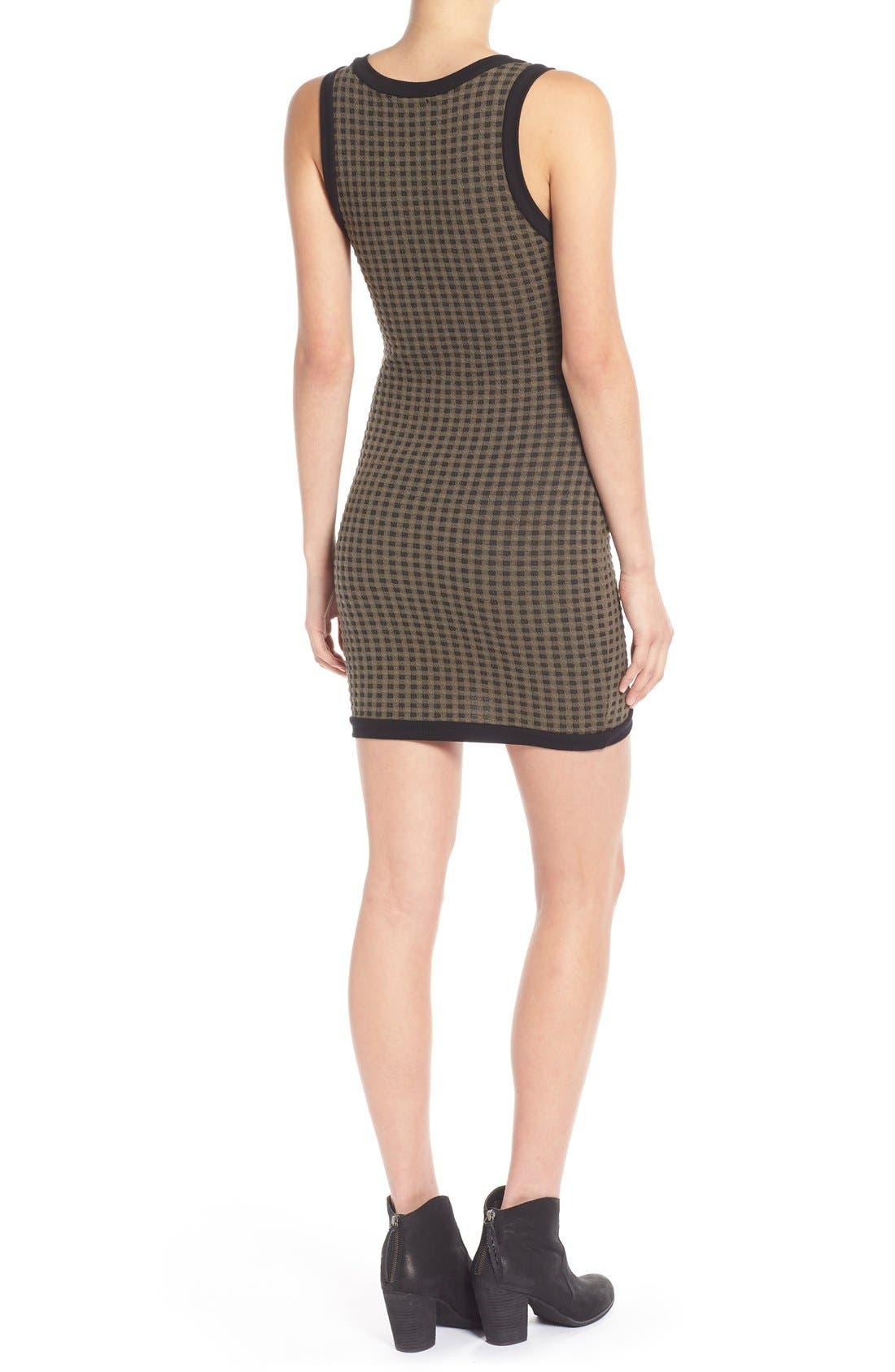 Alternate Image 2  - Lush Surplice Hem Knit Body-Con Dress