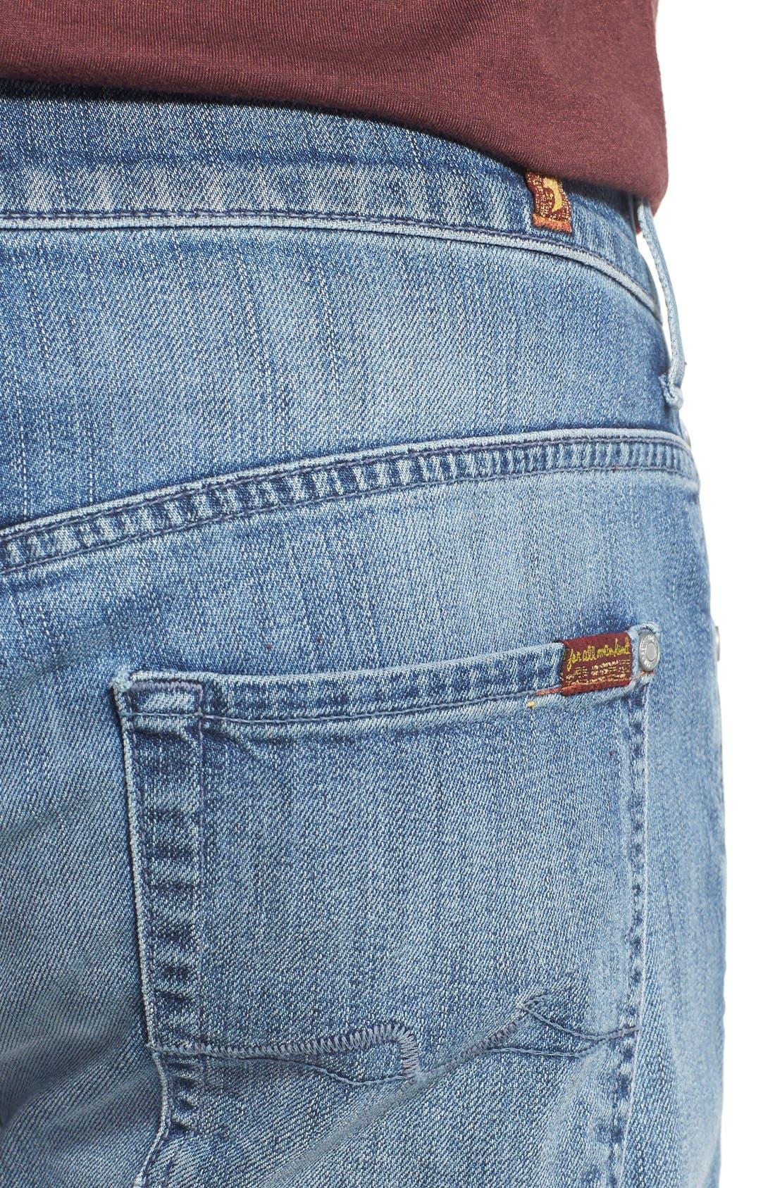 'Straight - FoolProof' Slim Straight Leg Jeans,                             Alternate thumbnail 4, color,                             Tribute