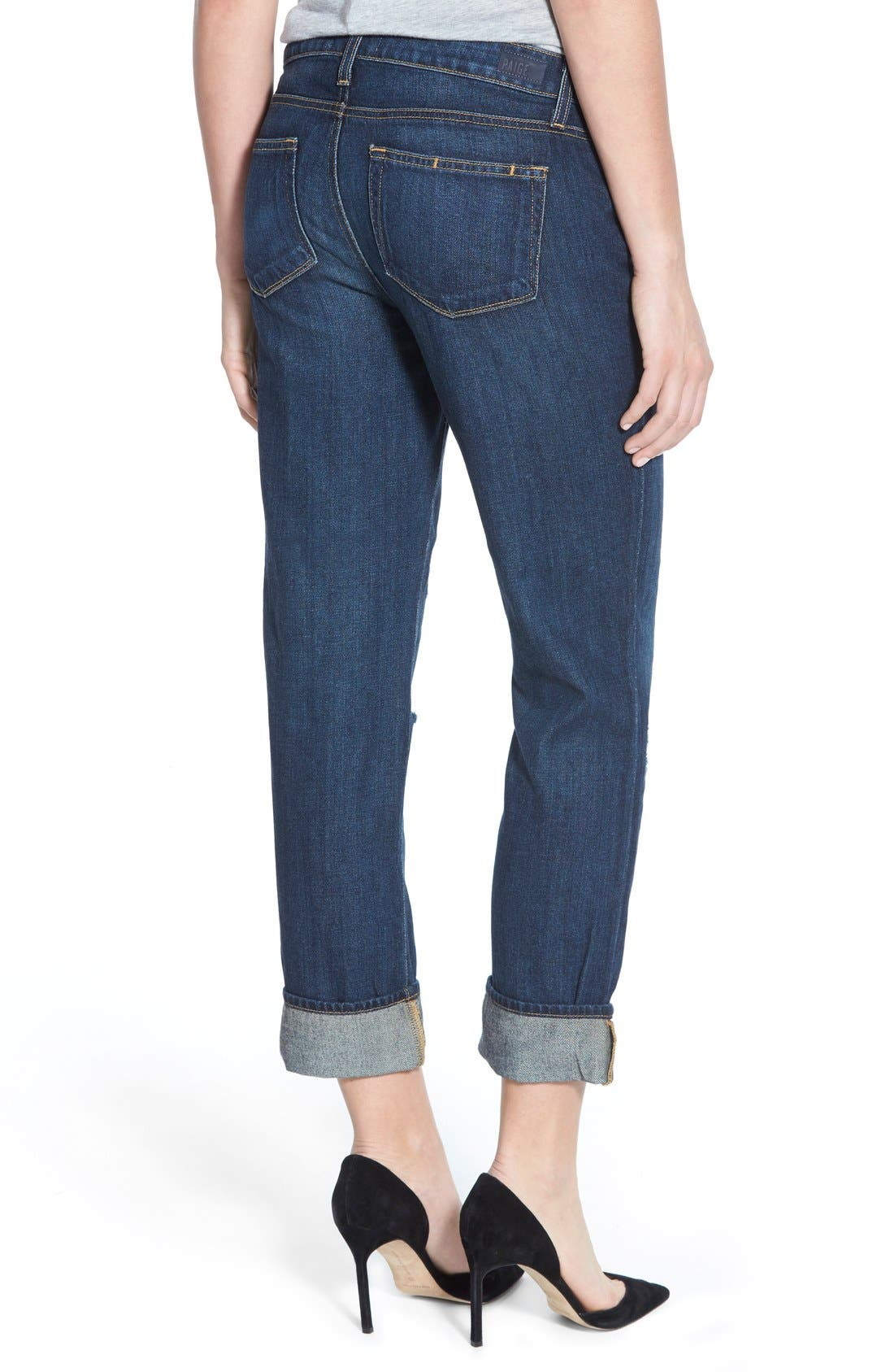 Alternate Image 2  - Paige Denim 'Porter' Boyfriend Jeans (Talley Destructed)