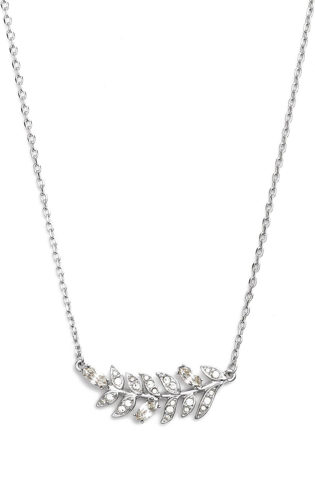 Alternate Image 1 Selected - Marchesa 'Leaf' Pendant Necklace