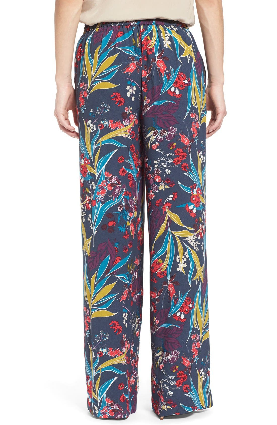Alternate Image 2  - Chelsea28 Print Wide Leg Pants