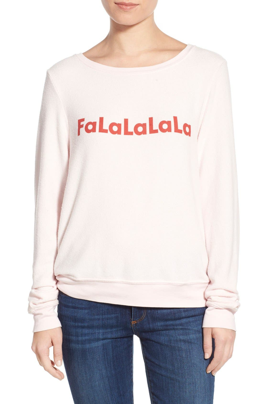 Alternate Image 1 Selected - Wildfox 'Baggy Beach Jumper - FaLaLaLa' Pullover