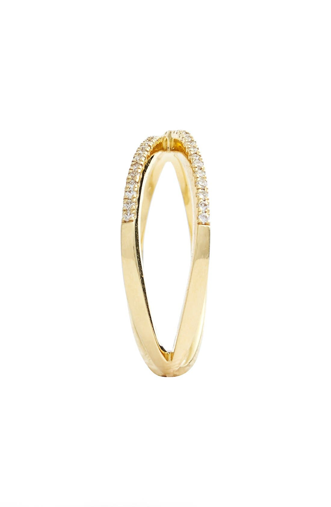 Alternate Image 2  - Bony Levy Stackable Crossover Diamond Ring (Nordstrom Exclusive)