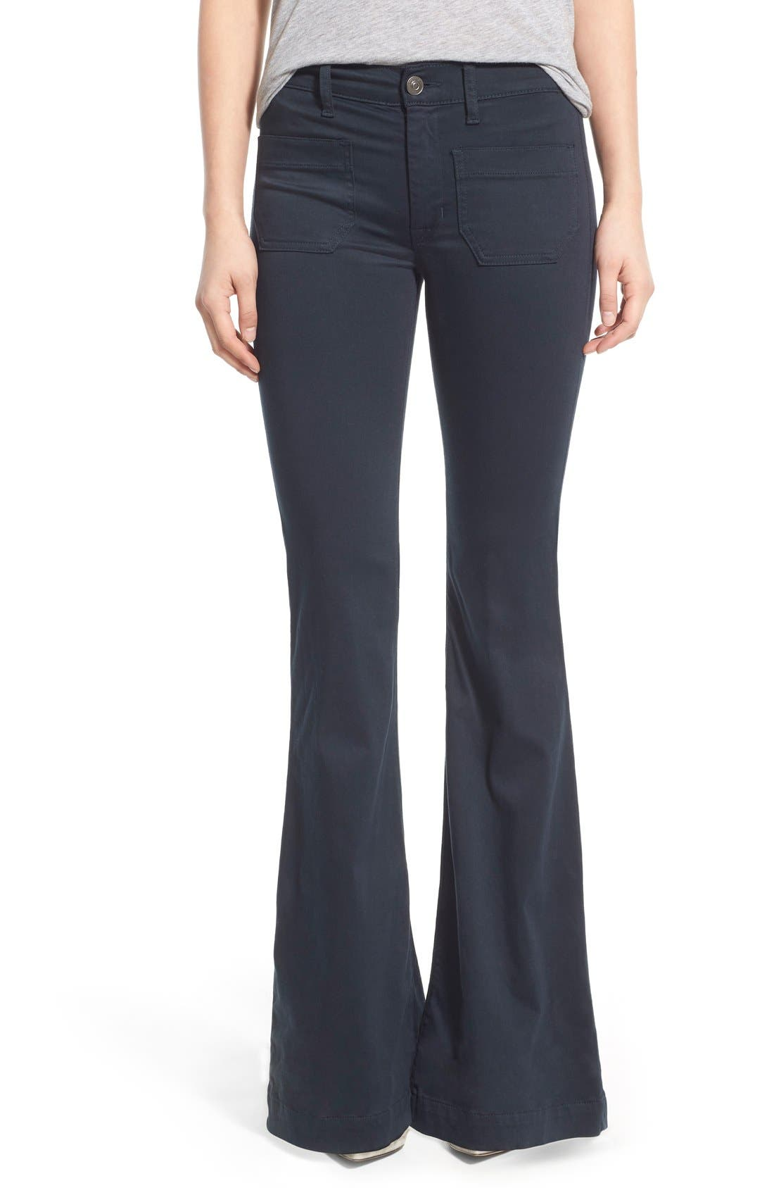 'Taylor' Flare Jeans,                         Main,                         color, Midnight