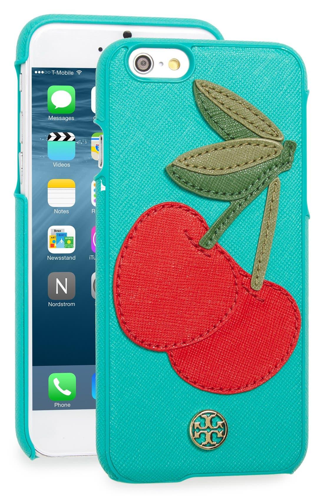 Main Image - Tory Burch 'Cherry' iPhone 6 & 6s Case