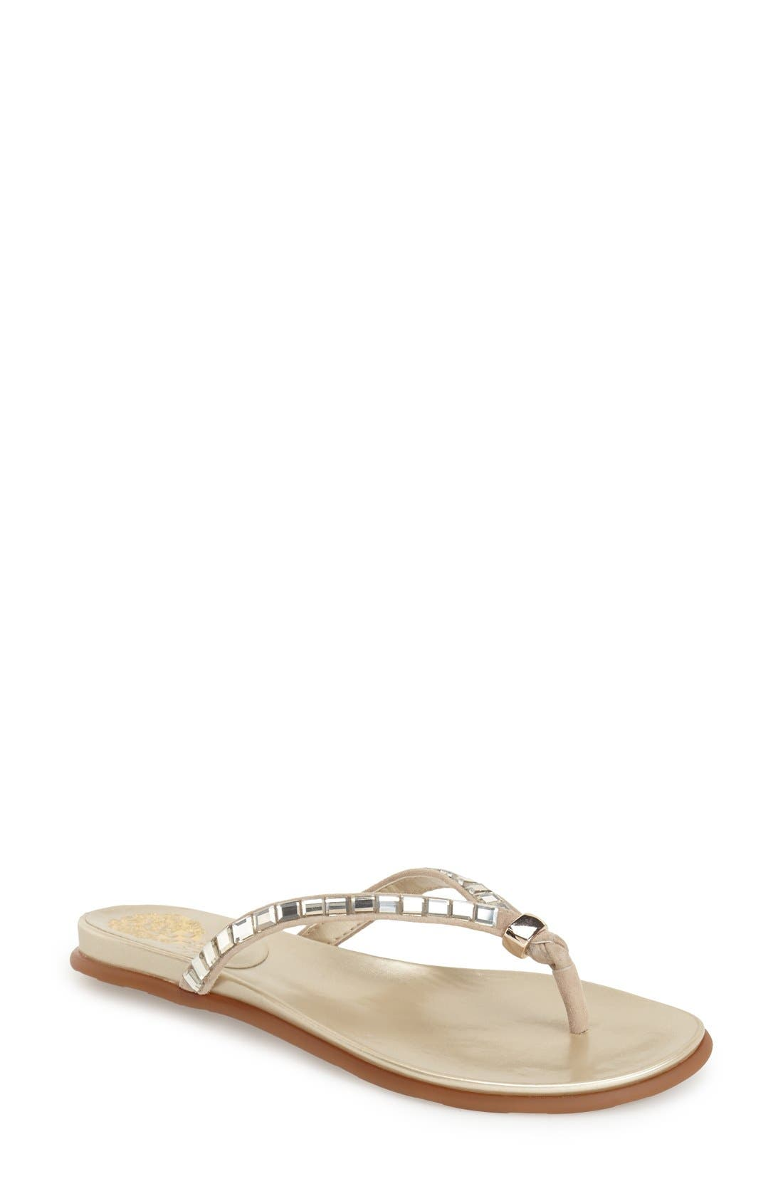 Alternate Image 1 Selected - Vince Camuto 'Ellita' Flat Sandal (Women)
