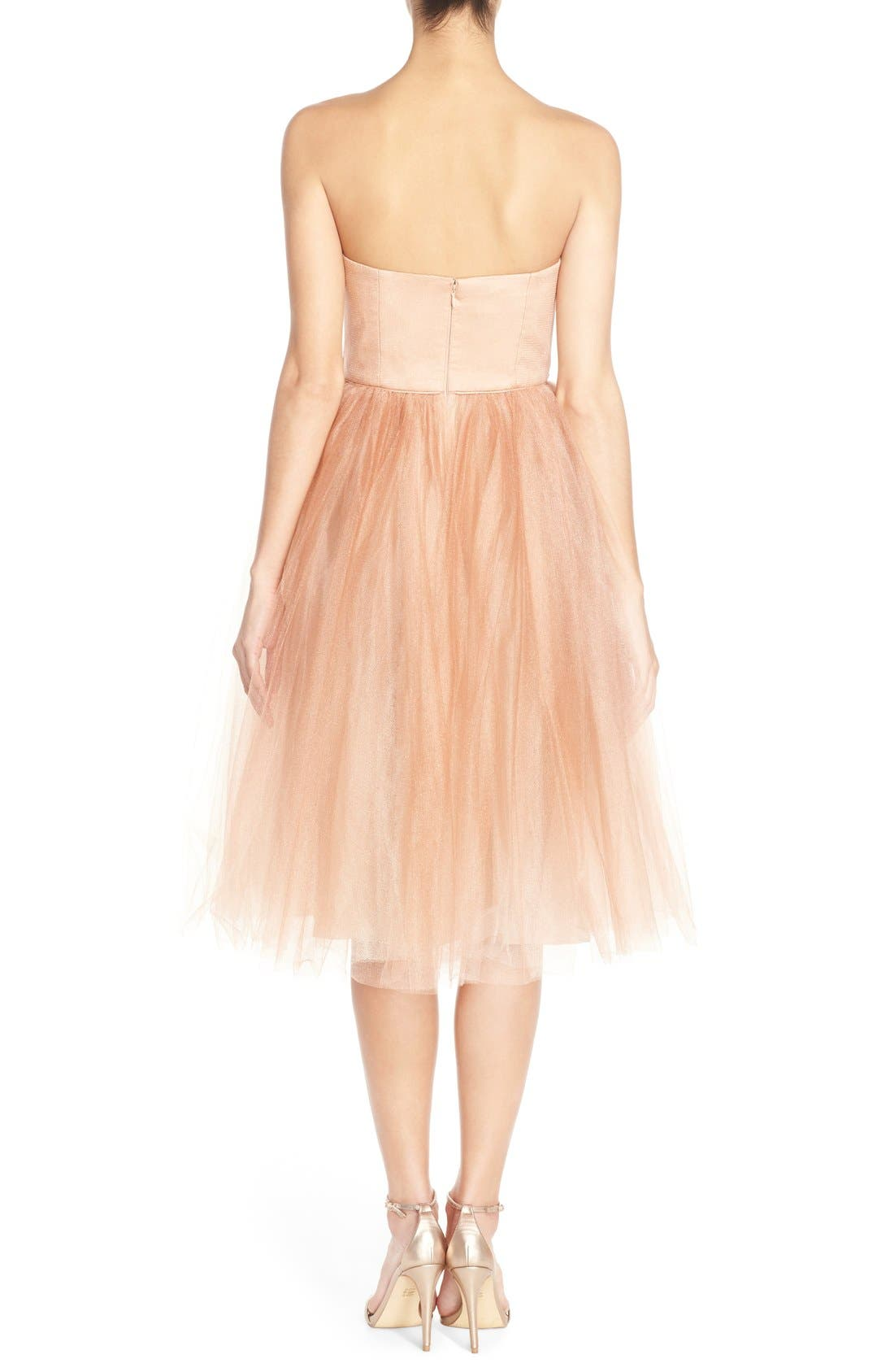 Alternate Image 2  - Donna Morgan 'Kenna' Strapless Tulle Fit & Flare Dress
