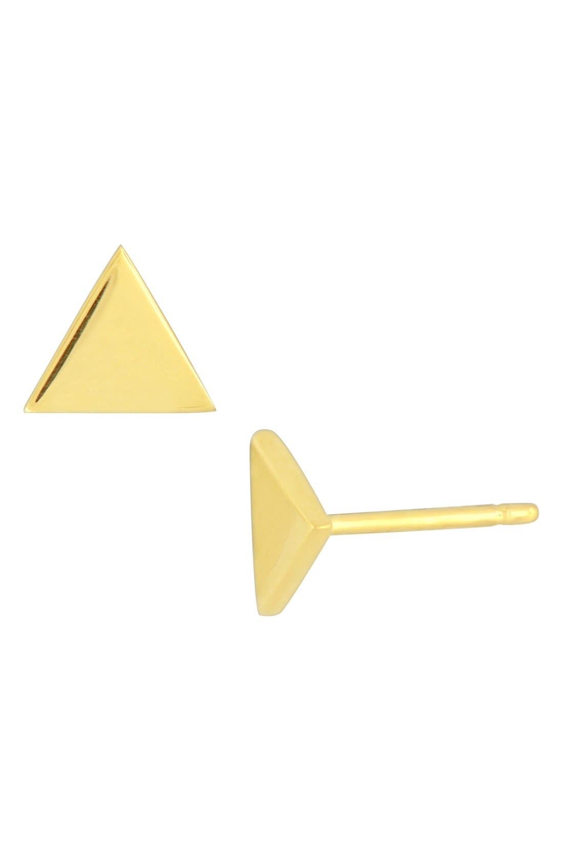 Alternate Image 2  - Bony Levy Triangle Stud Earrings (Nordstrom Exclusive)