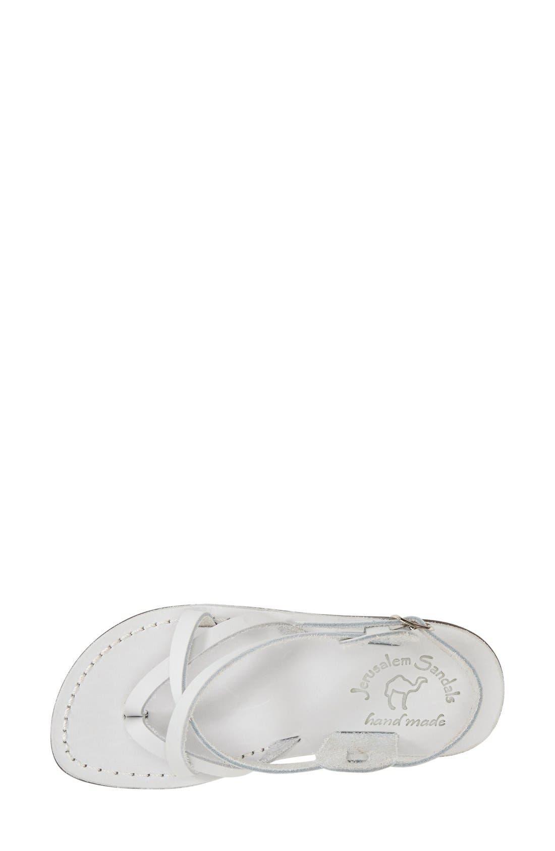 'Tamar' Strappy Sandal,                             Alternate thumbnail 3, color,                             White Leather