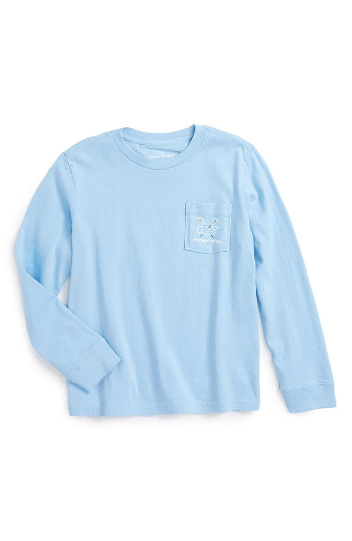 Vineyard Vines Lacrosse Whale Graphic Long Sleeve T