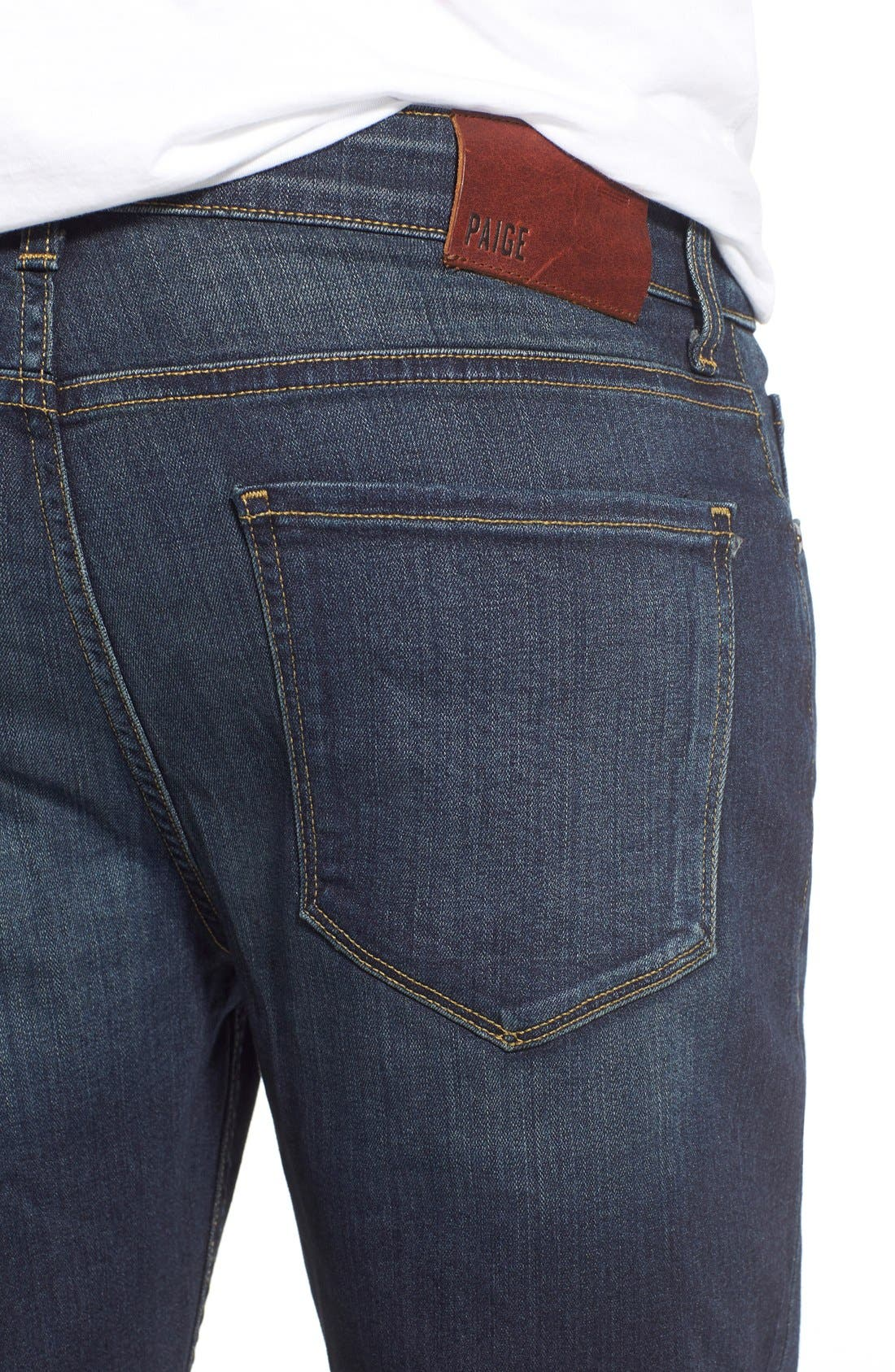 Alternate Image 4  - PAIGE Lennox Slim Fit Jeans (Rigby)