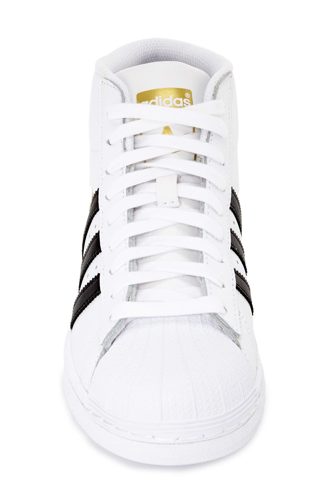 'Pro Model' High Top Sneaker,                             Alternate thumbnail 2, color,                             White/ Core Black